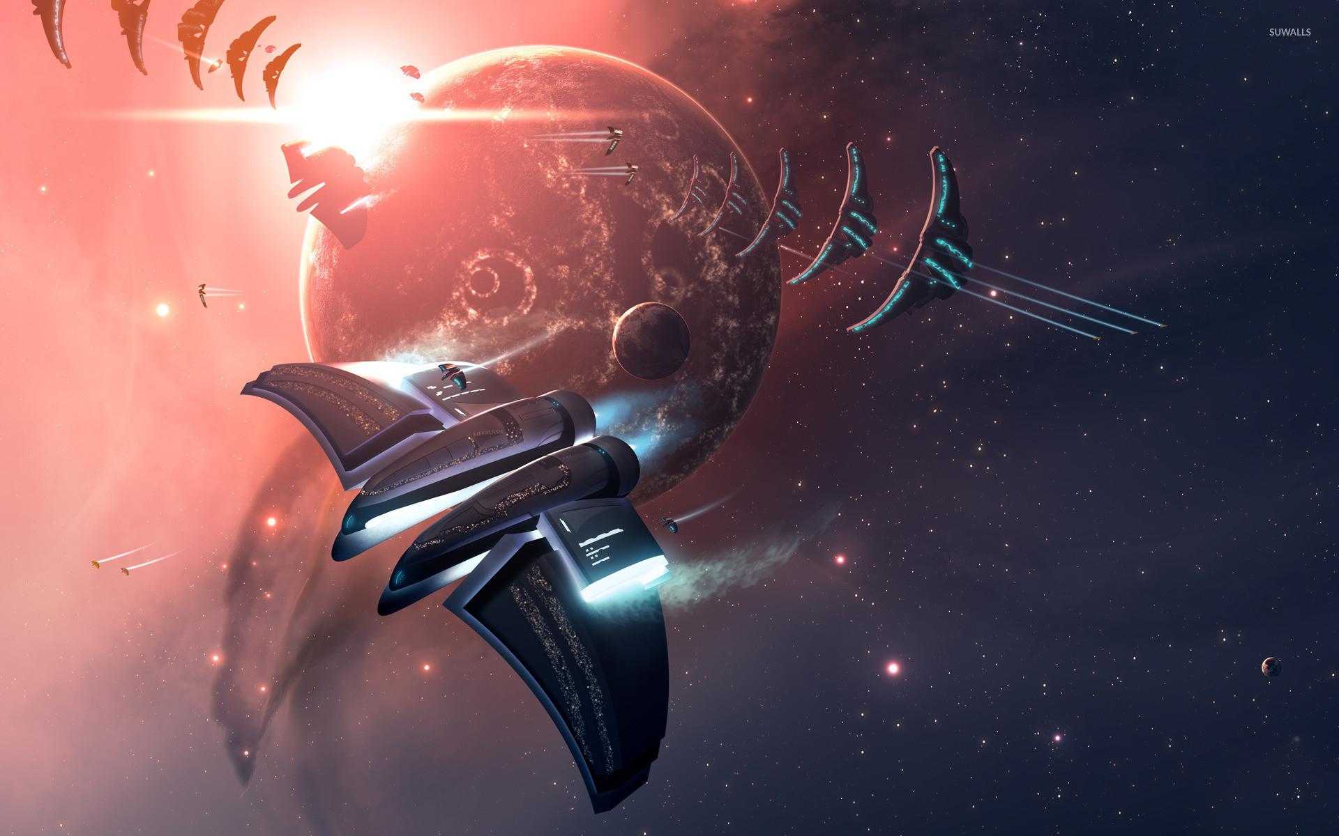 Res: 1920x1200, Space battle wallpaper  jpg