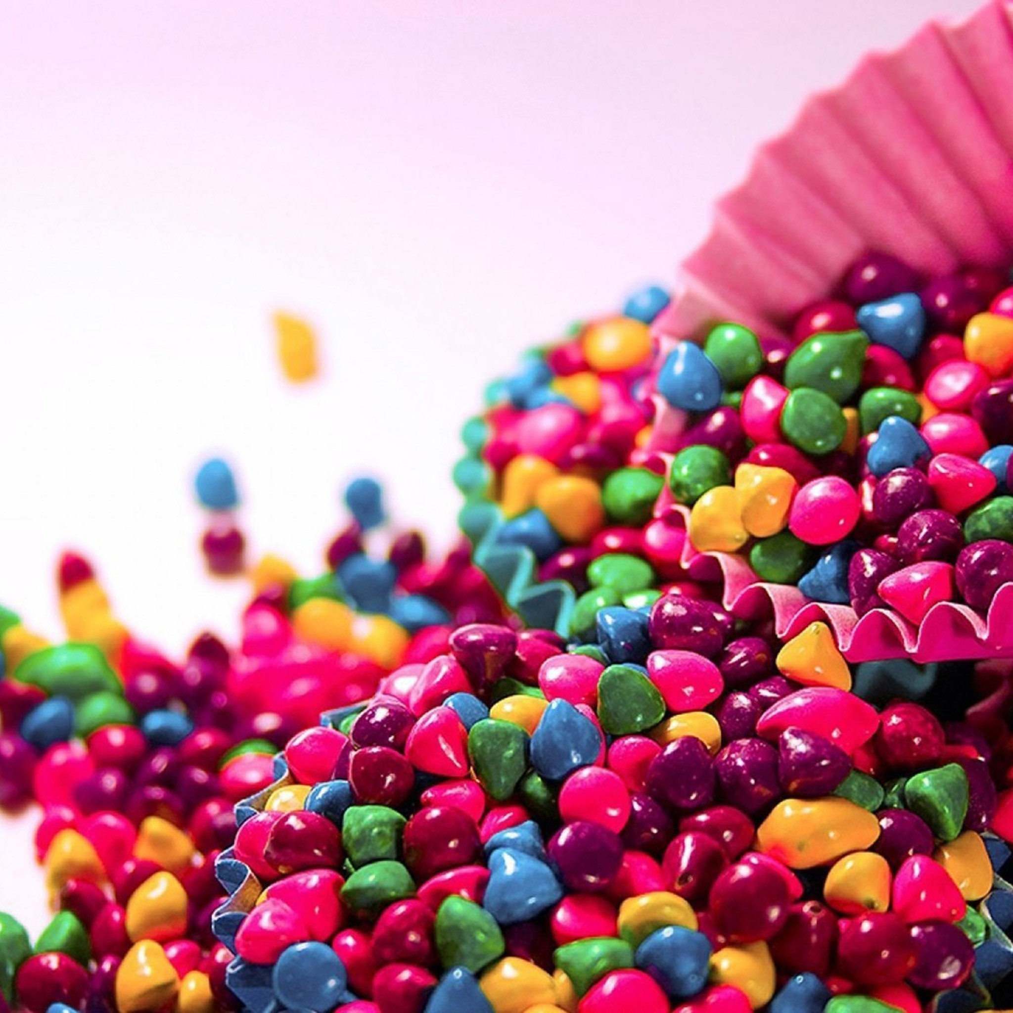 Res: 2048x2048, Keys: skittles, wallpaper, wallpapers, food and drink