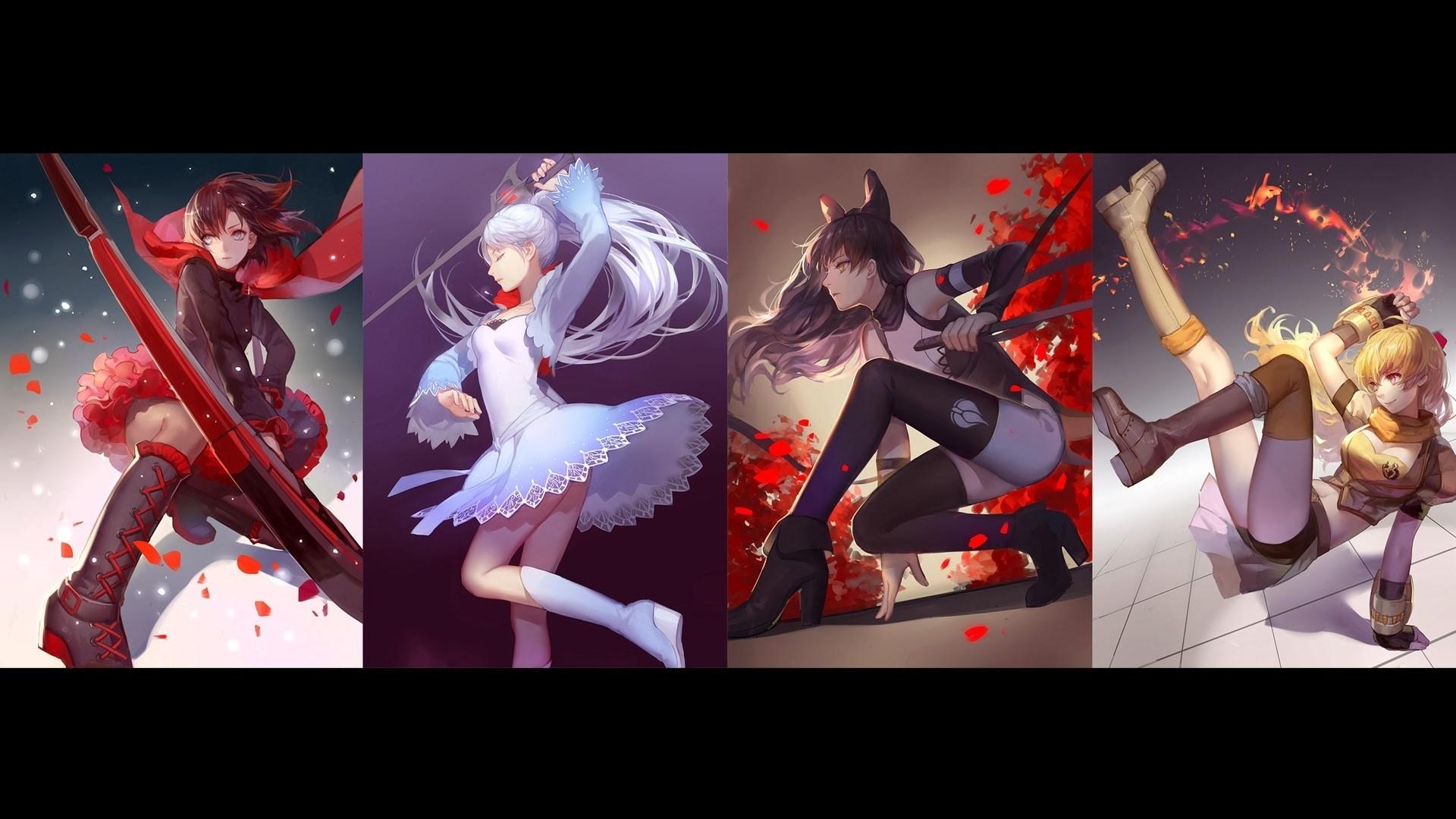 Res: 1920x1080, Yang Xiao Long Weiss Schnee RWBY Ruby Rose Blake Belladonna 1080p HD  Wallpaper Background