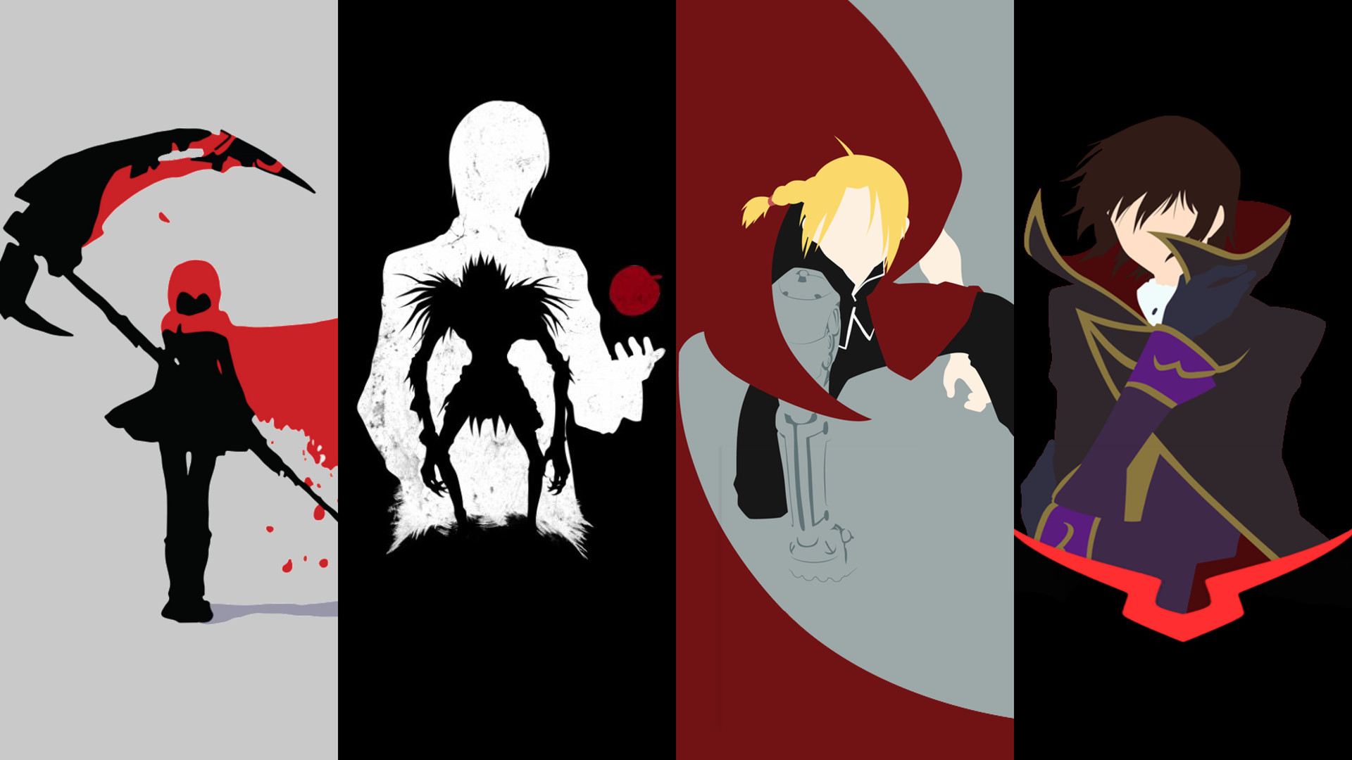 Res: 1920x1080, Deathnote, FMA, Code Geass and RWBY wallpaper ()