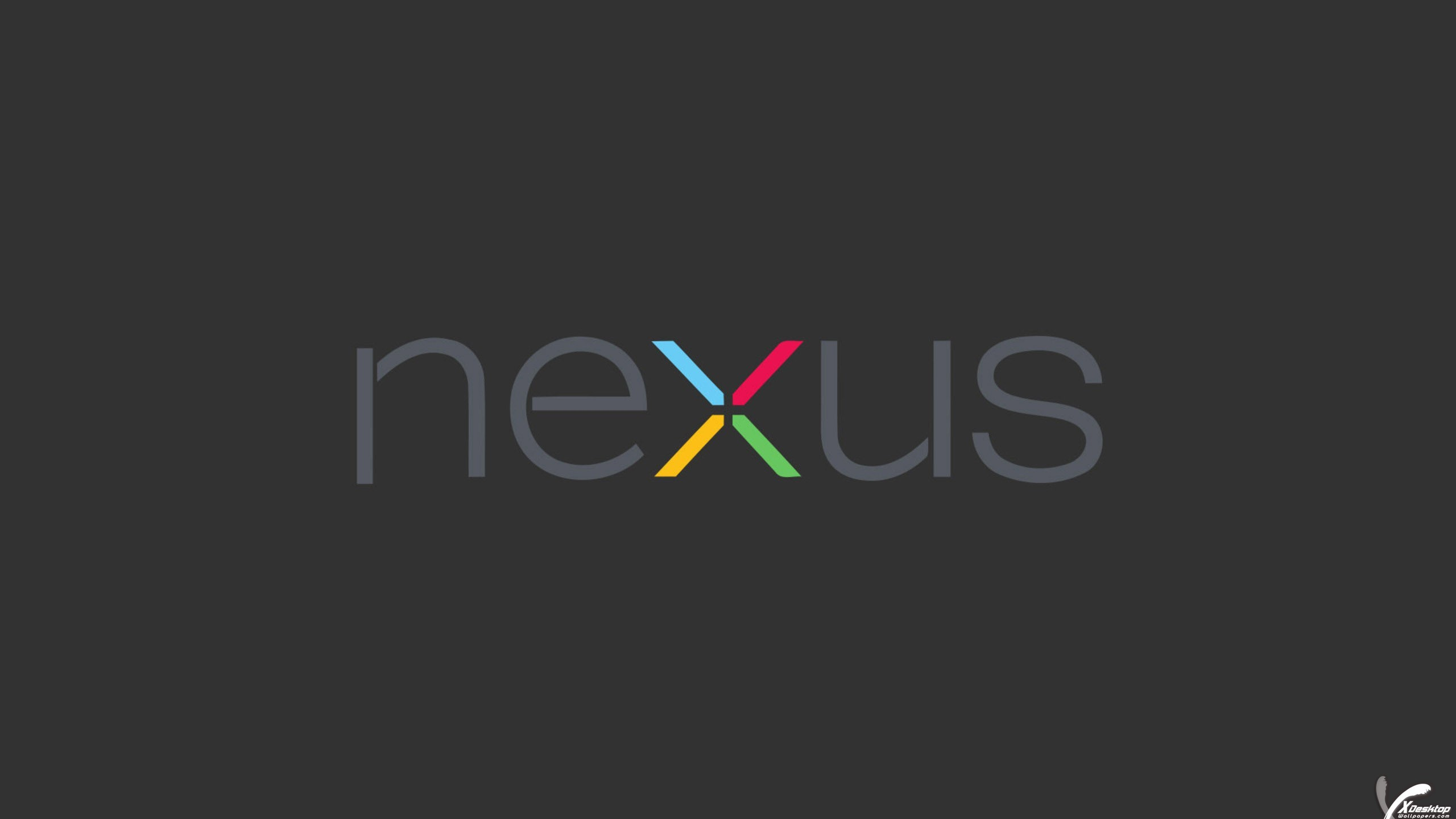 """Res: 2560x1440, You are viewing wallpaper titled """"Nexus Logo On Grey Background"""" ..."""