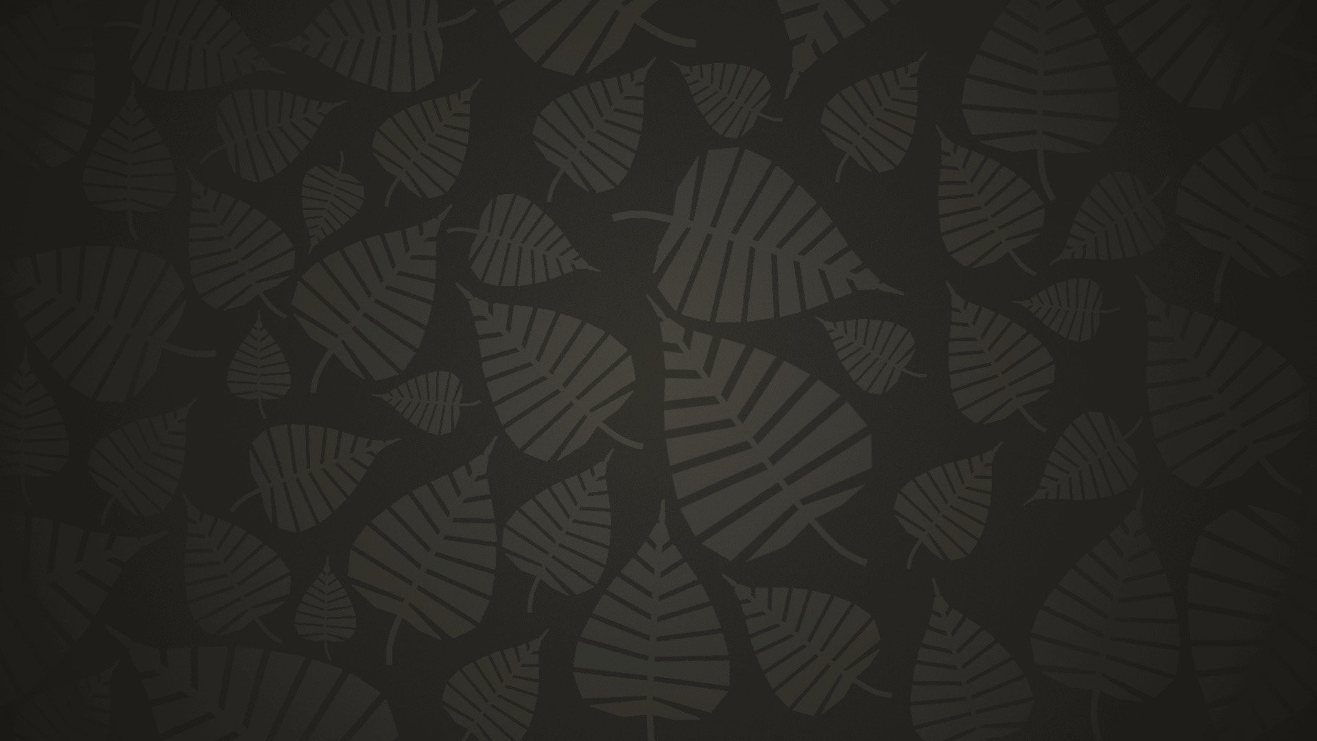 Res: 1920x1080, leaves grey background