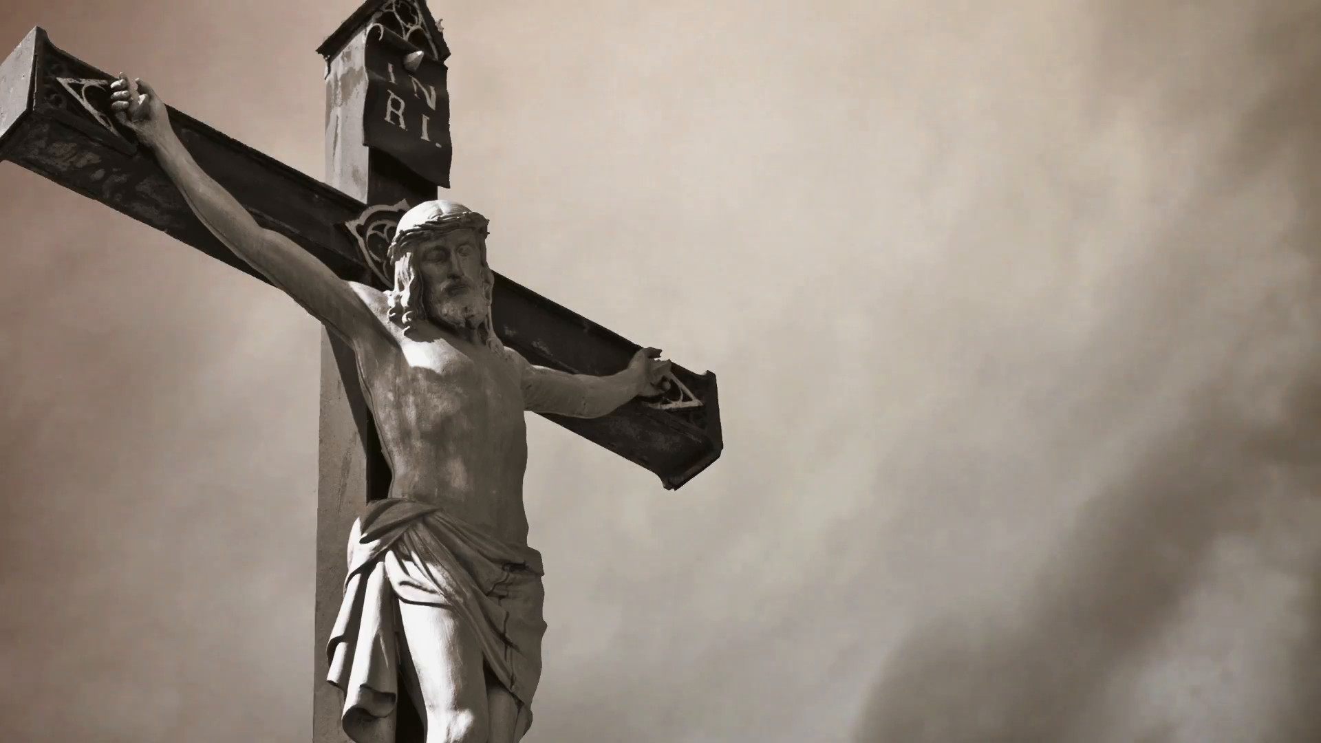 Res: 1920x1080, Christian cross with Jesus Christ statue over stormy clouds time lapse.  , 1080p, hd format Stock Video Footage - Videoblocks