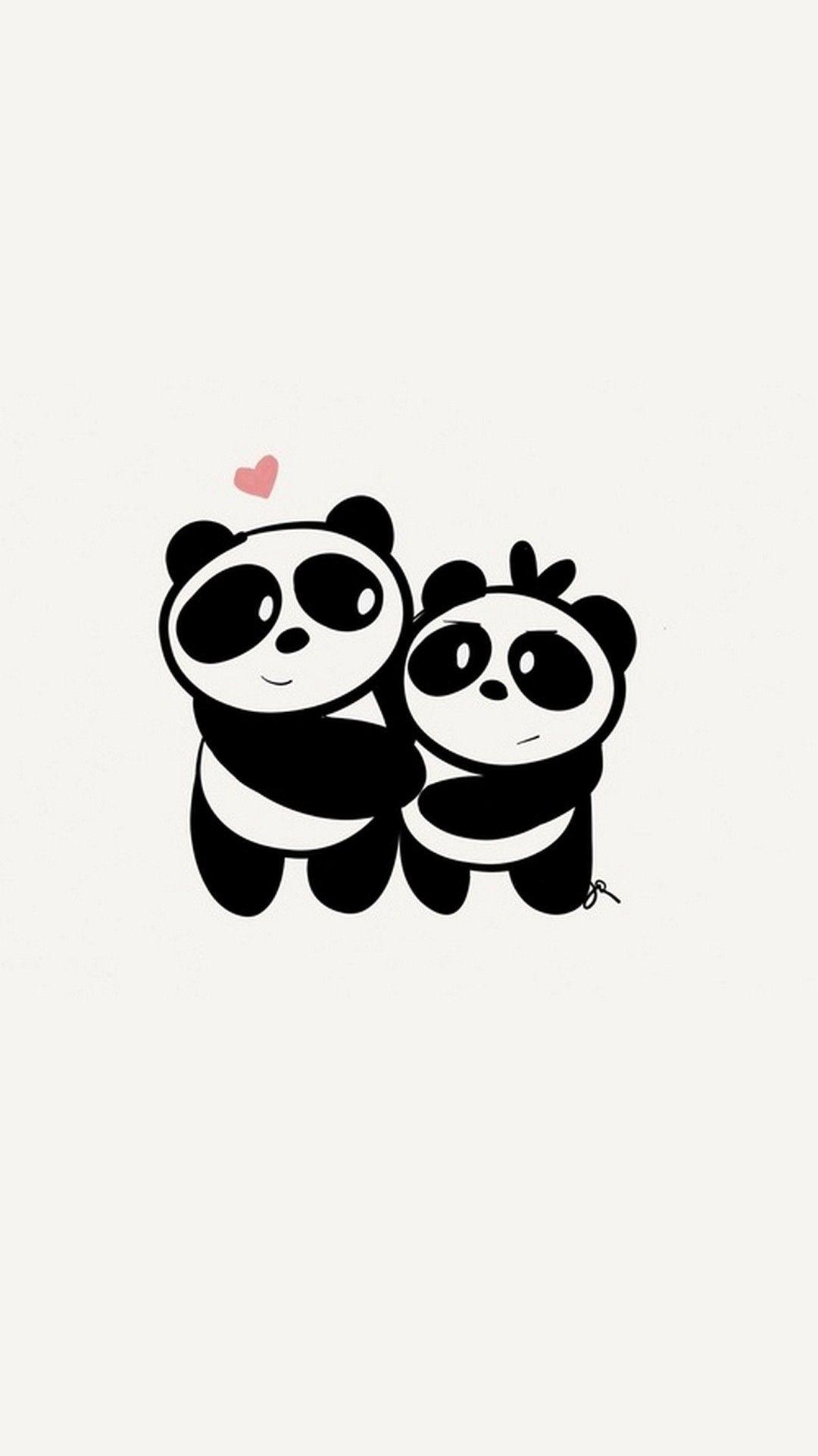 Res: 1080x1920, iPhone X Cute Couple Panda Wallpaper - Best iPhone Wallpaper
