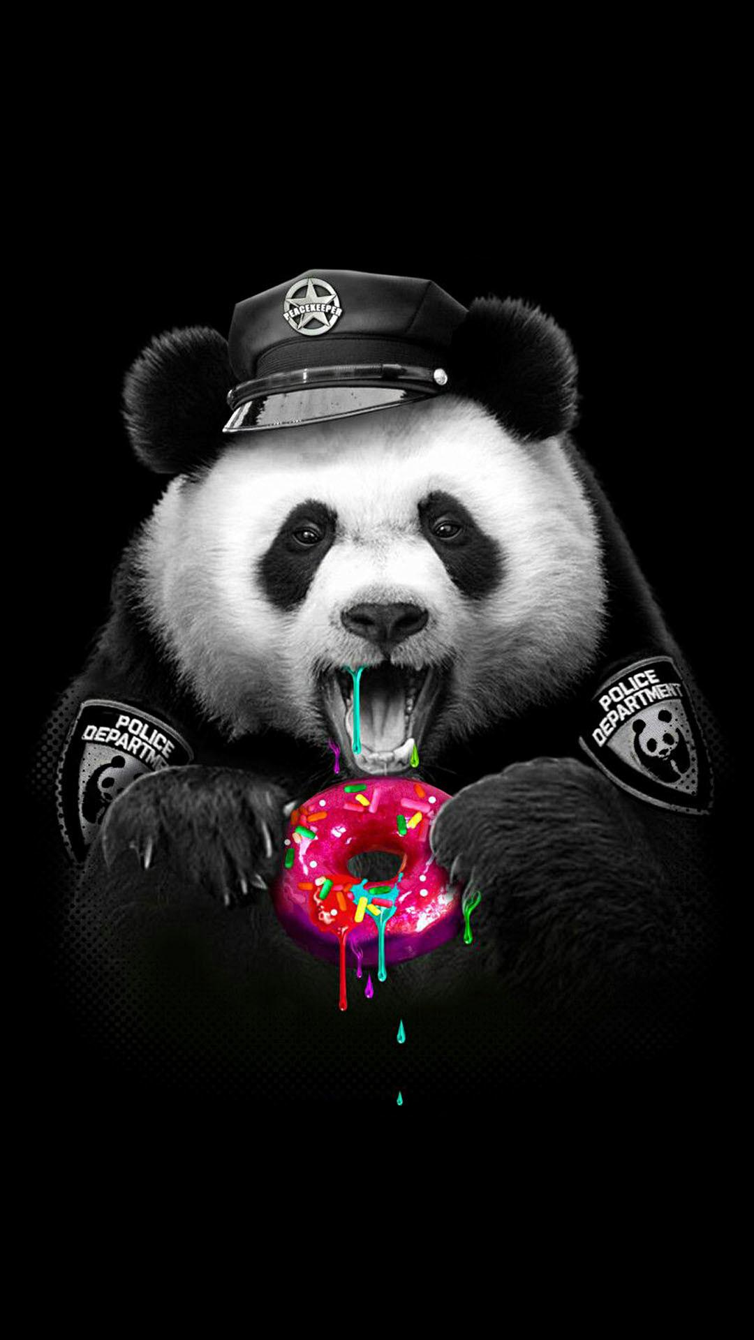 Res: 1080x1920, iPhone wallpaper panda police Panda