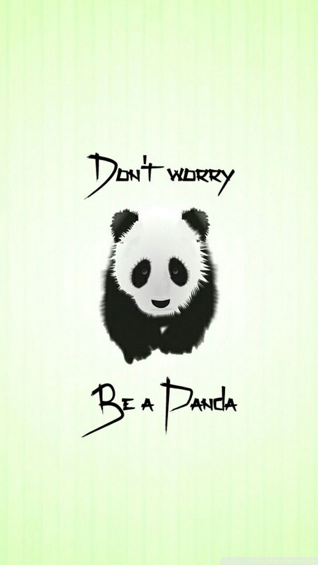 Res: 1080x1920, Cute Dont Worry Be a Panda iPhone Wallpaper - Best iPhone Wallpaper