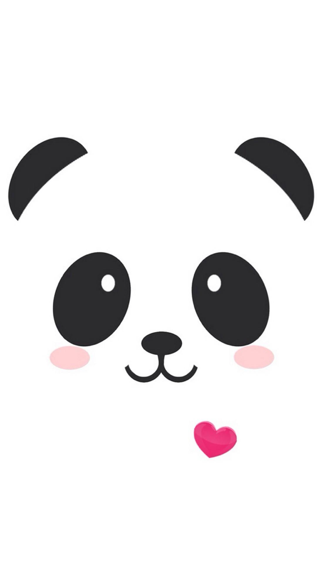 Res: 1080x1920, iPhone Cute Face Panda Wallpaper resolution