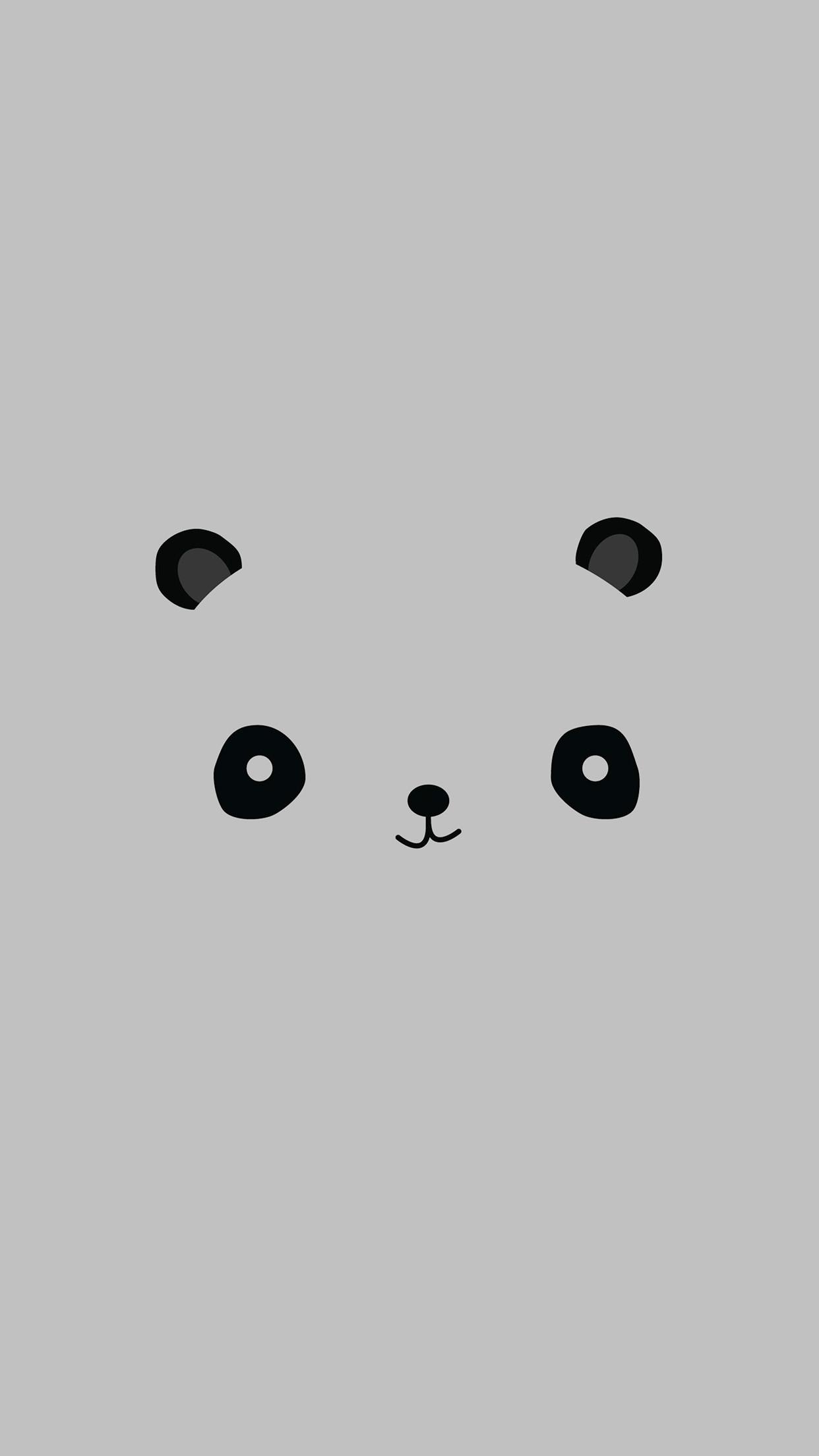 Res: 1242x2208, Cute Minimal Panda Android Wallpaper ...