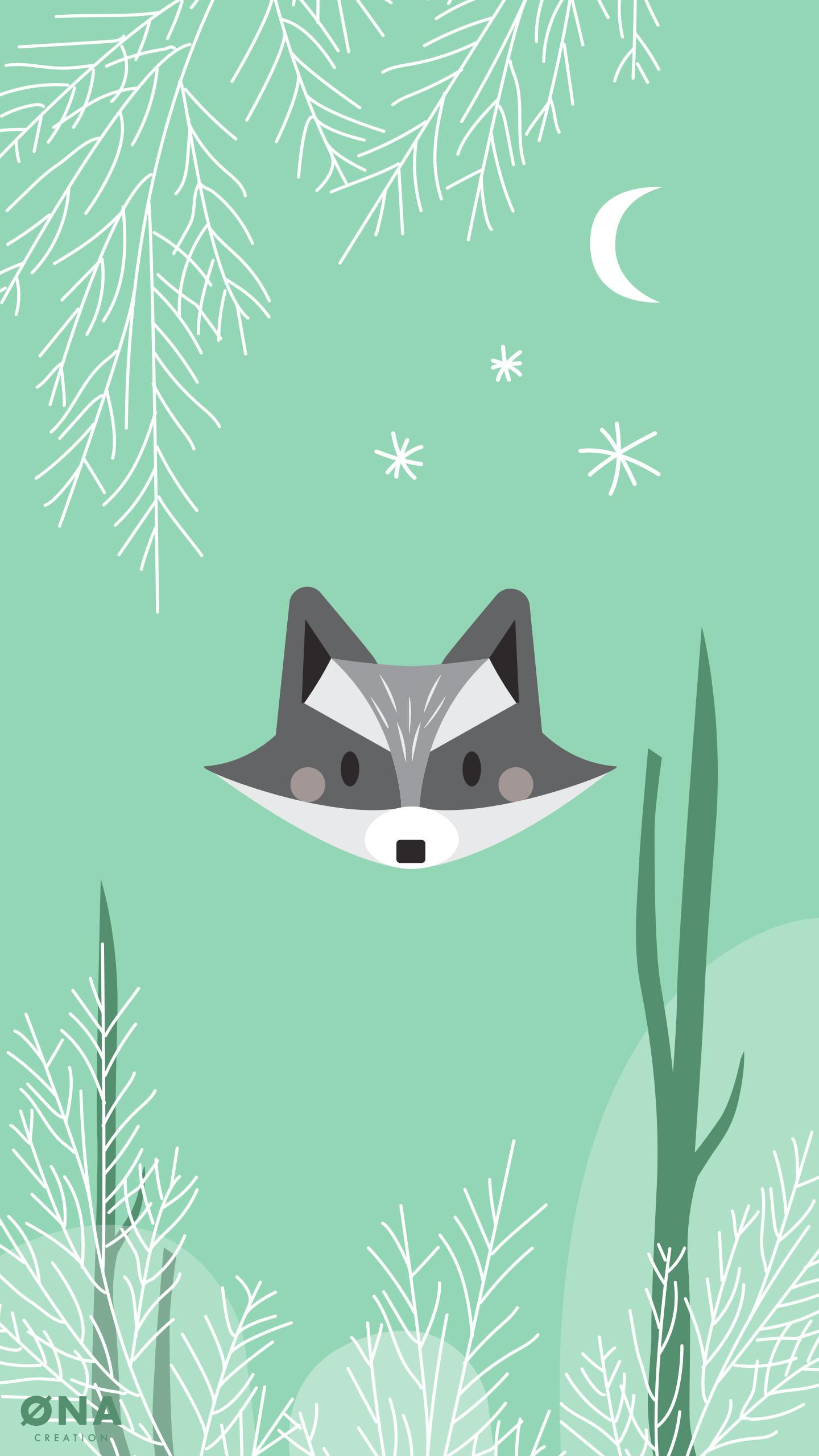 Res: 1440x2560, Raccoon Wallpaper
