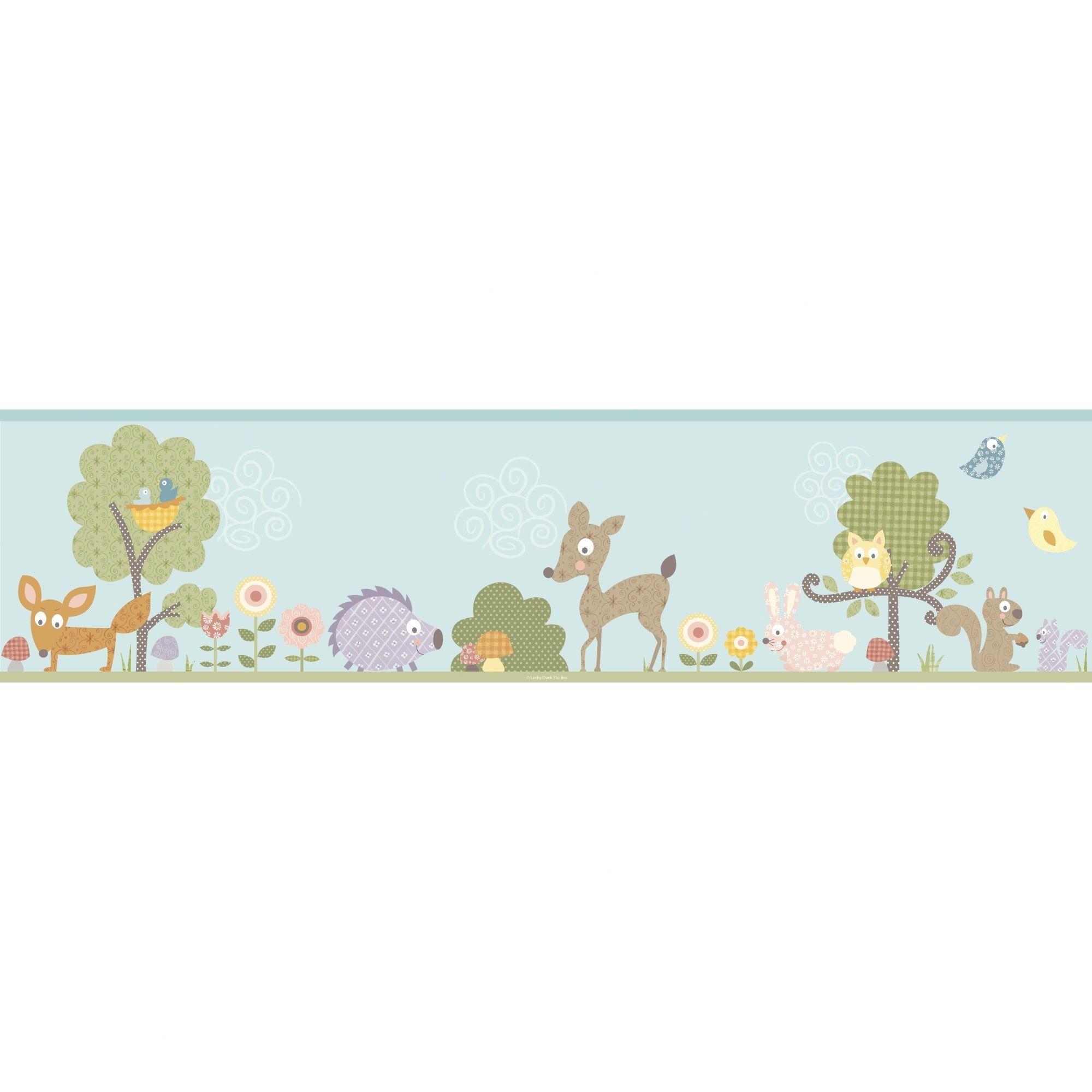 Res: 2000x2000, Room Mates Studio Designs Woodland Animals Wall Border - RMK1420BCS -  Wallpaper - Wall Art & Coverings - Decor