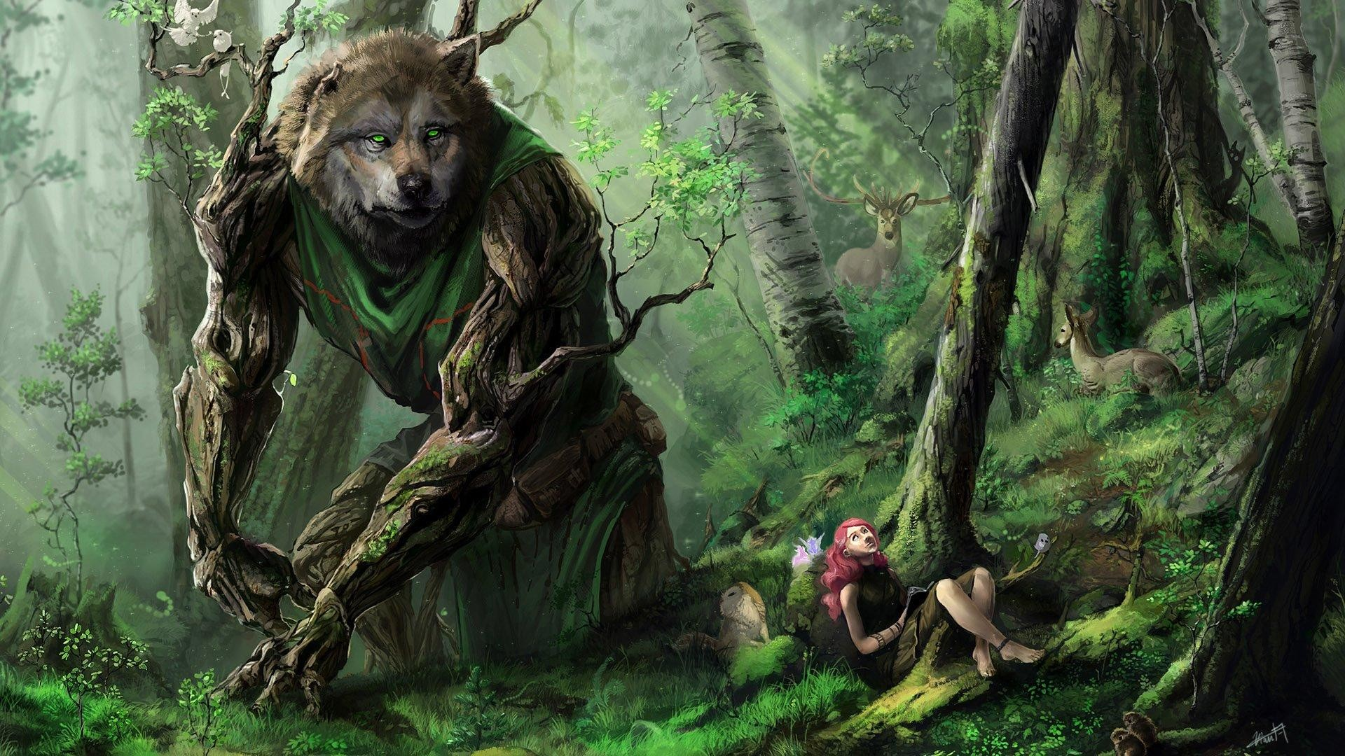 Res: 1920x1080, Fantasy Forest With Fabulous Creatures Wallpaper   Wallpaper Studio 10    Tens of thousands HD and UltraHD wallpapers for Android, Windows and Xbox