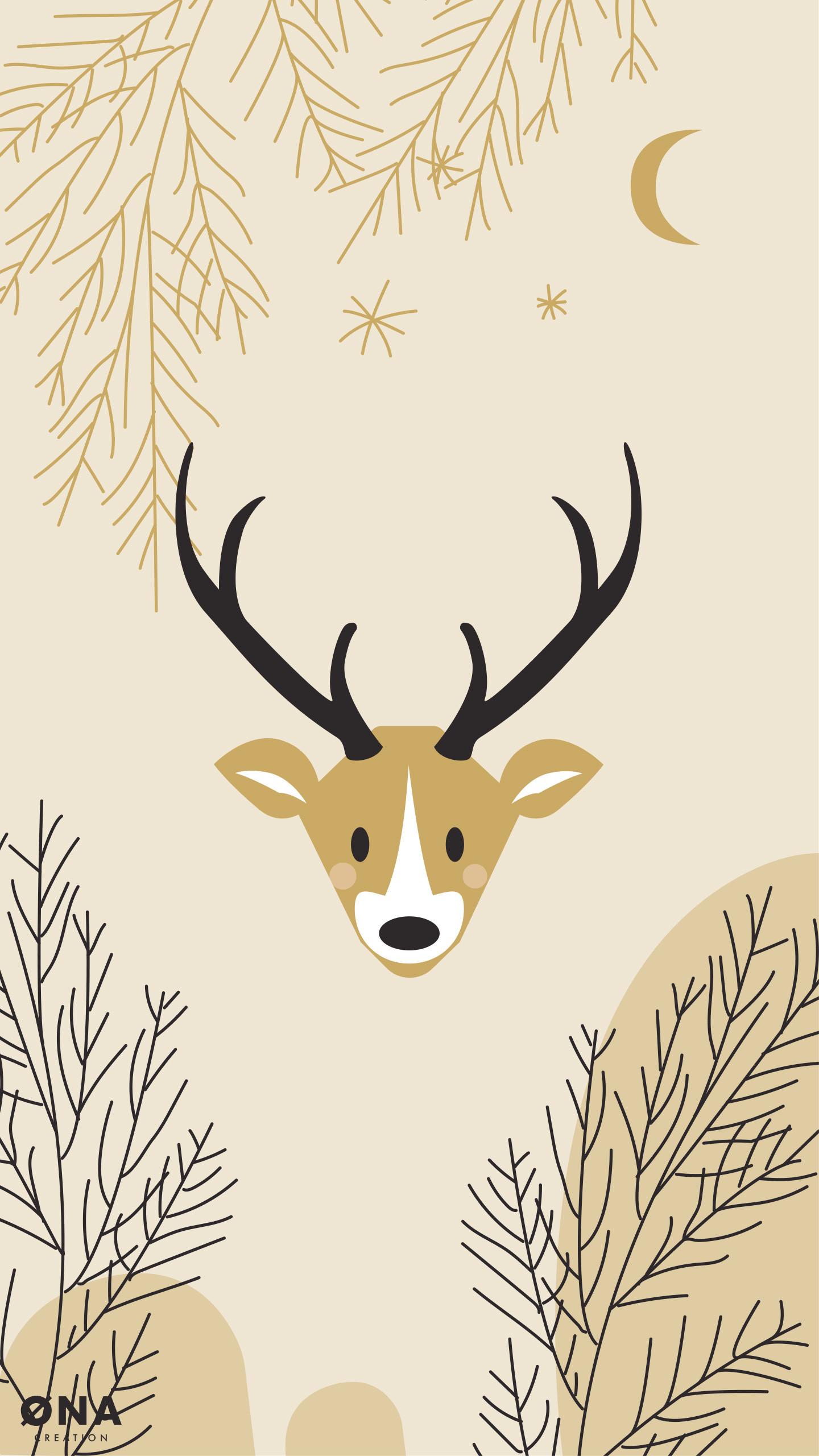 Res: 1440x2560, Deer Wallpaper