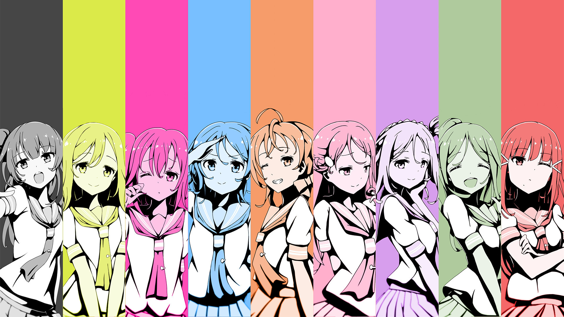 Res: 1920x1080, Love Live! Sunshine!! Wallpapers 13 - 1920 X 1080