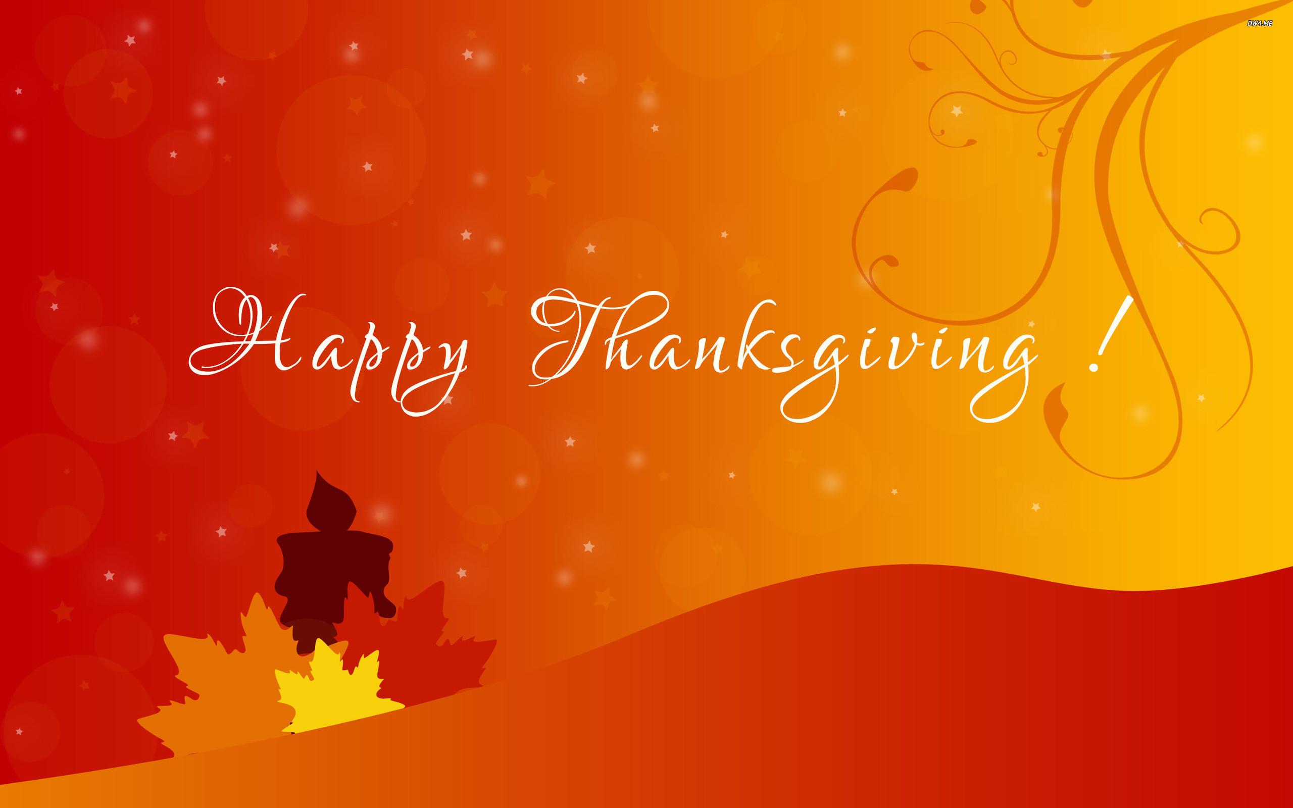 Res: 2560x1600, ... Happy Thanksgiving wallpaper  ...