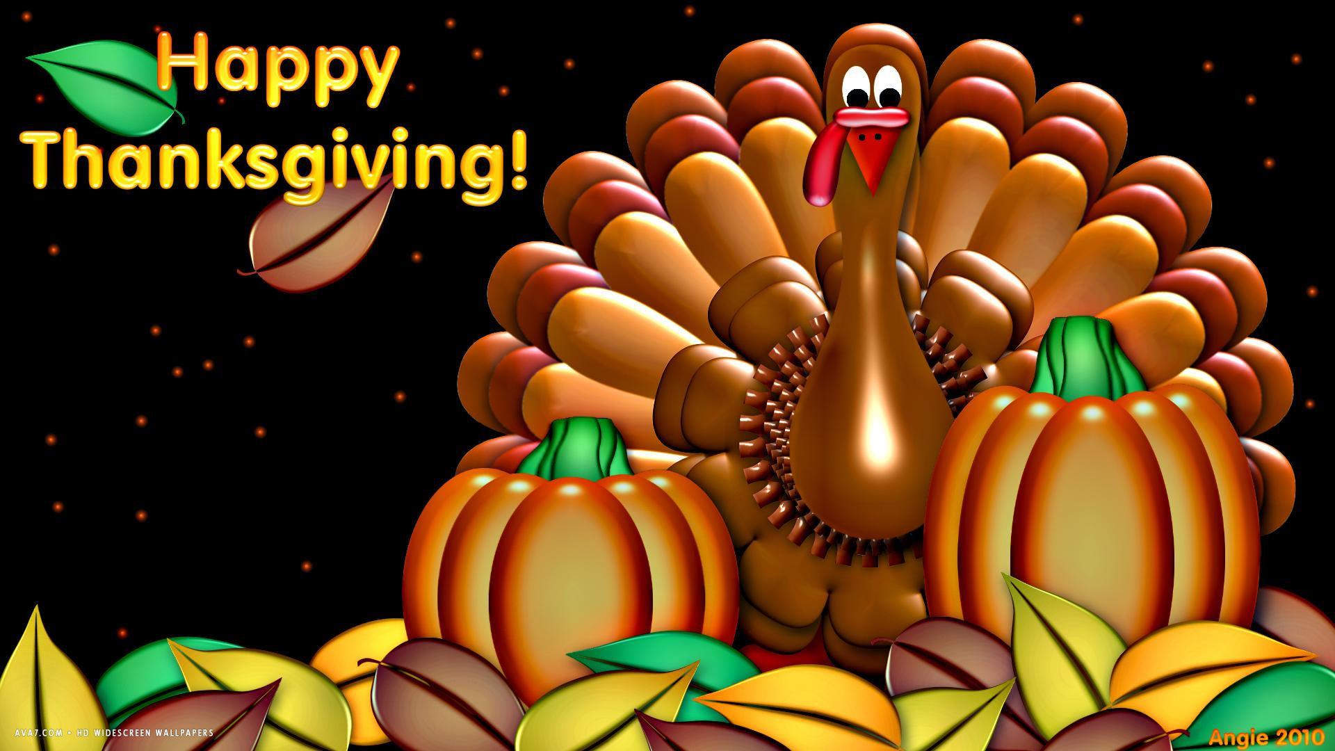Res: 1920x1080, happy thanksgiving turkey pumpkin artistic holiday hd widescreen wallpaper