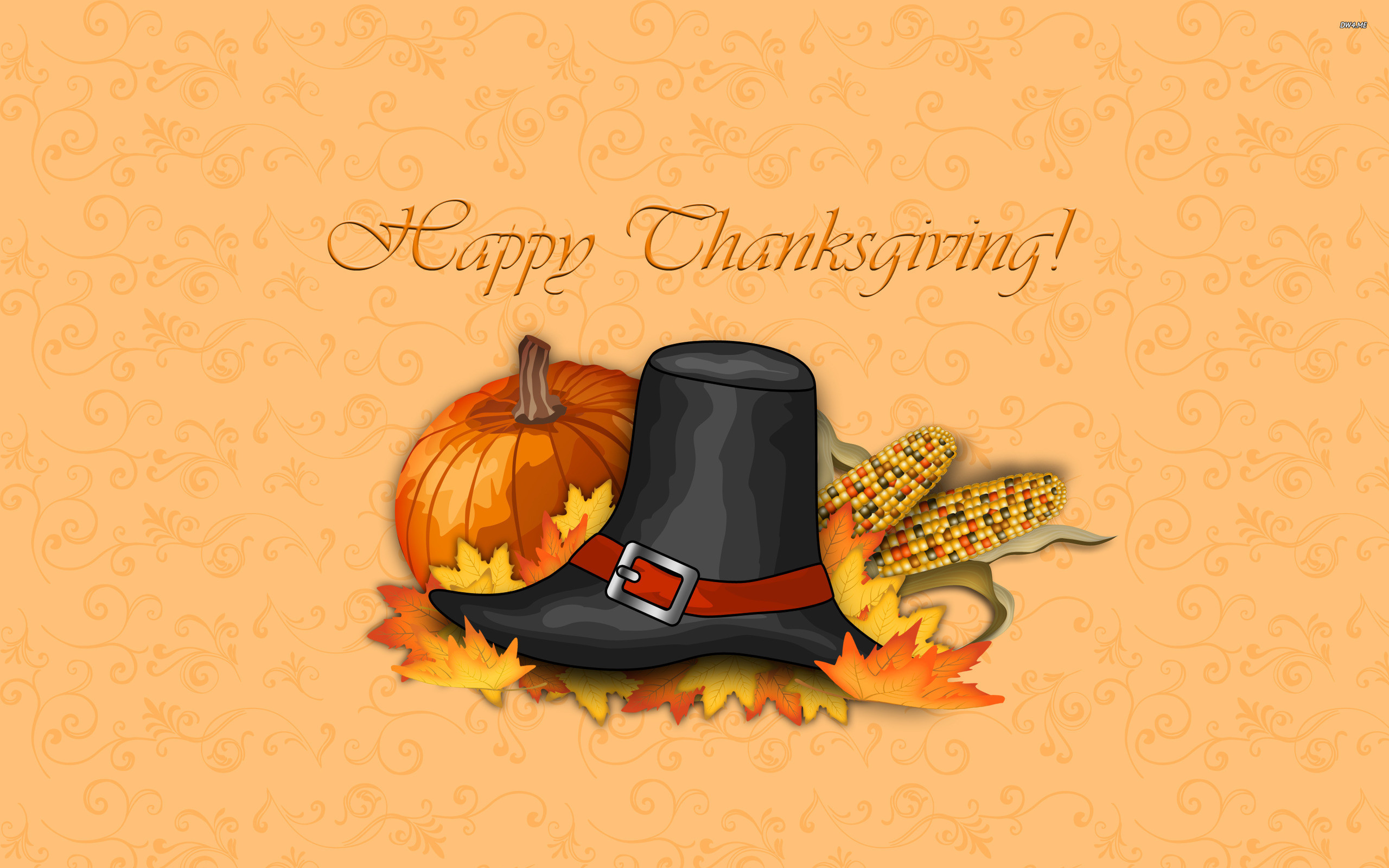 Res: 2560x1600, ... Happy Thanksgiving! wallpaper  ...