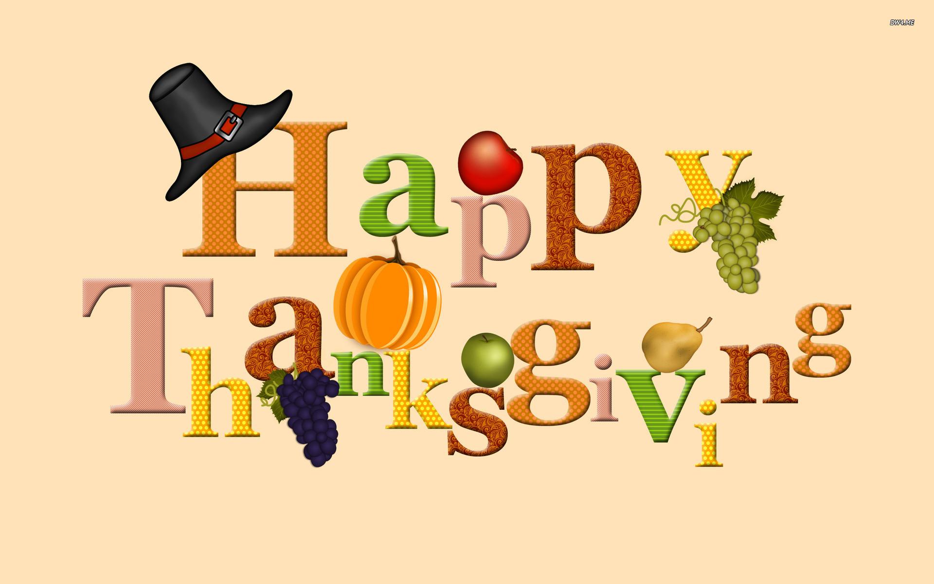 Res: 1920x1200, ... Happy Thanksgiving wallpaper  ...