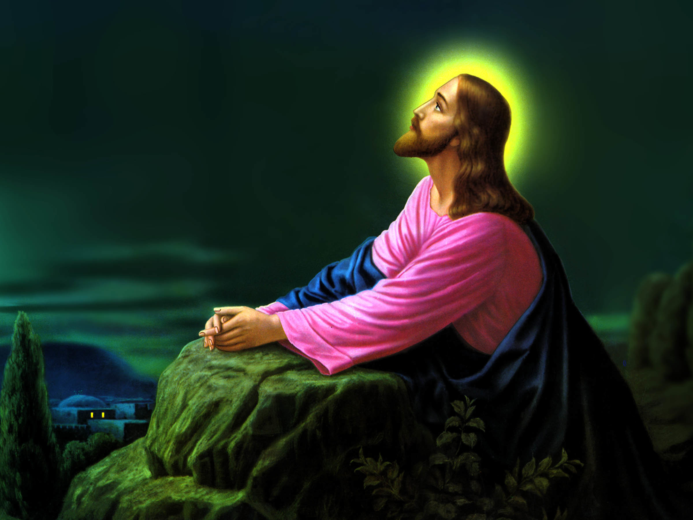 Res: 2400x1800, Jesus Christ Praying Wallpapers 03