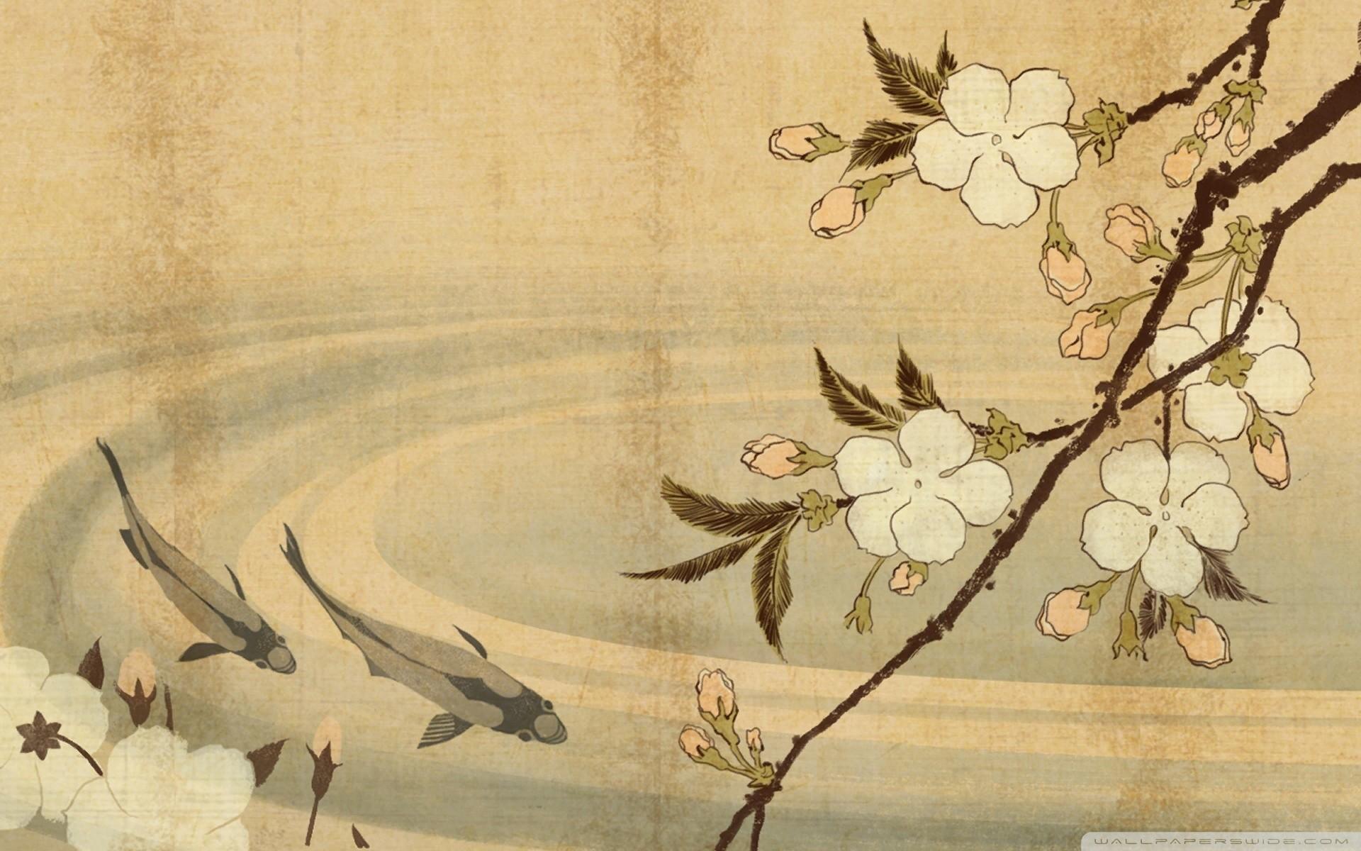 Res: 1920x1200, justpict.com Japanese Art Wallpaper
