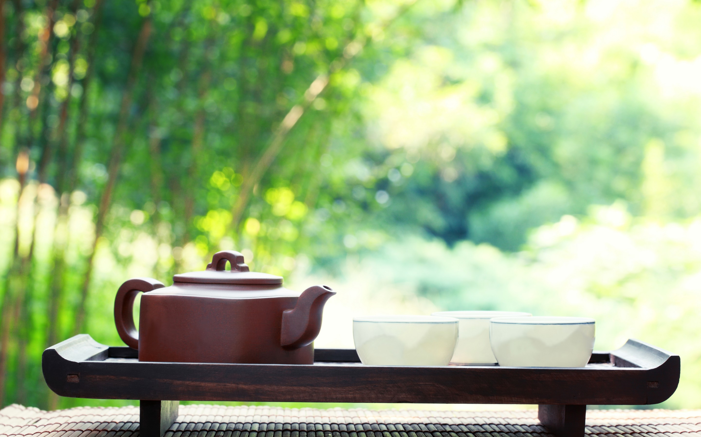 Res: 2880x1800, Japanese Green Tea Cup Wallpaper
