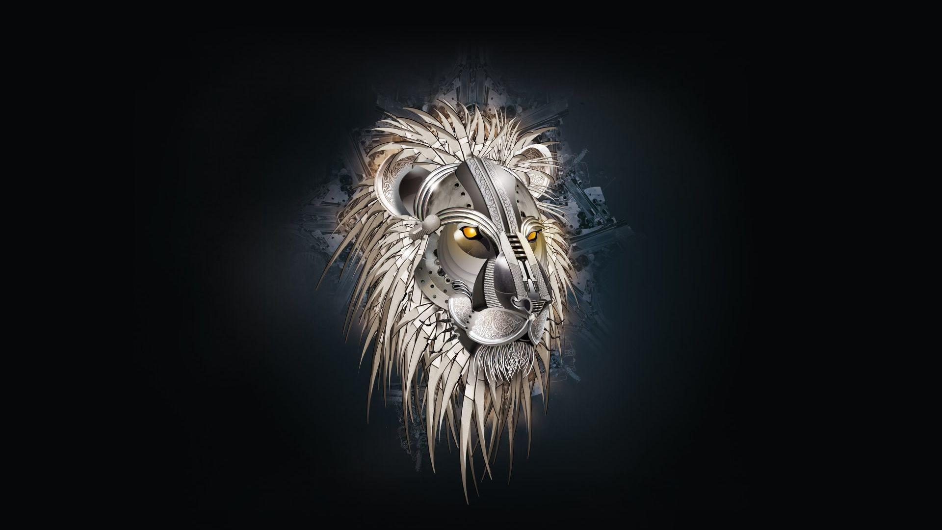 Res: 1920x1080, Drawn wallpaper lion #4