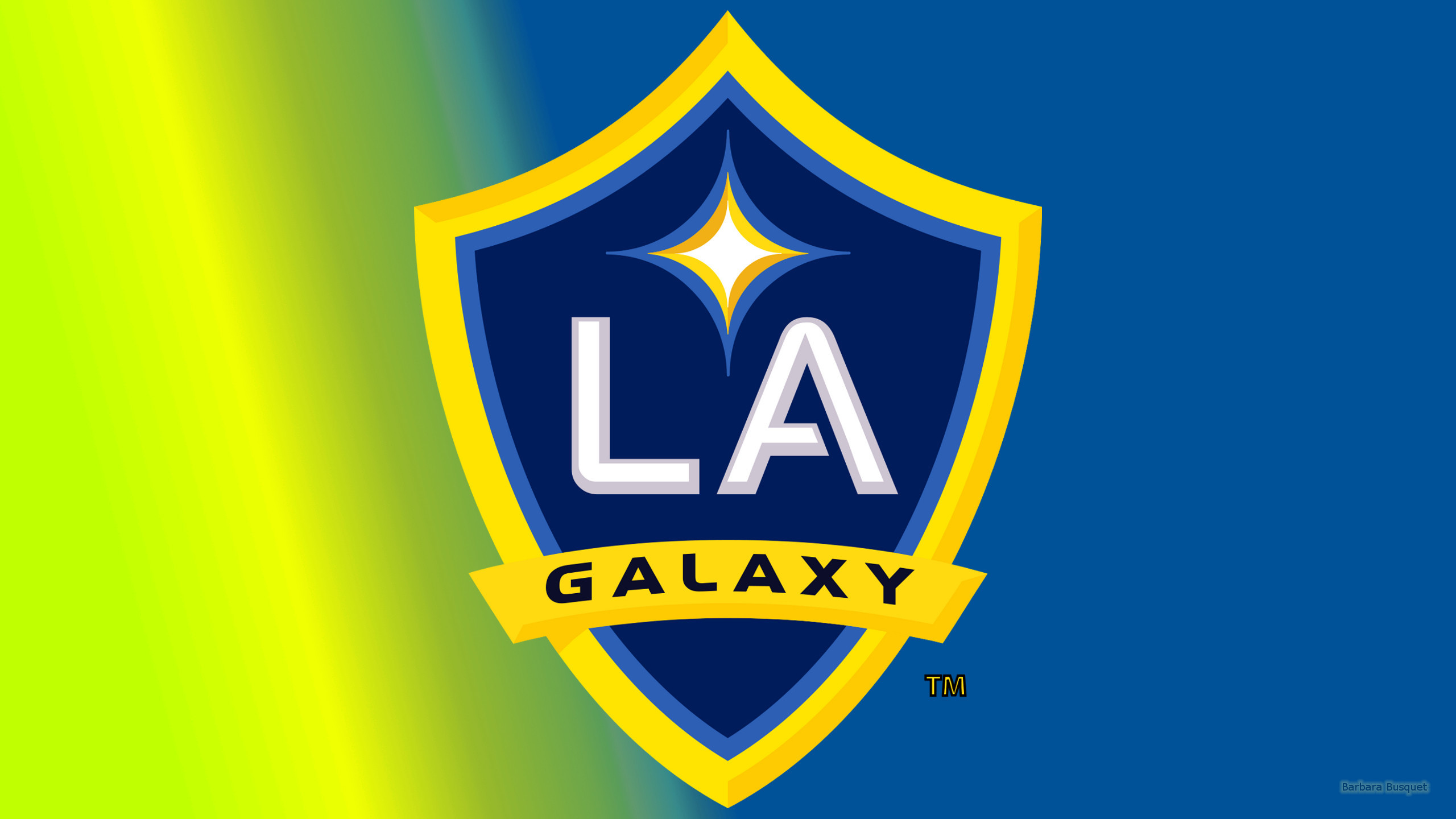 Res: 2560x1440, Simple blue yellow LA Galaxy wallpaper