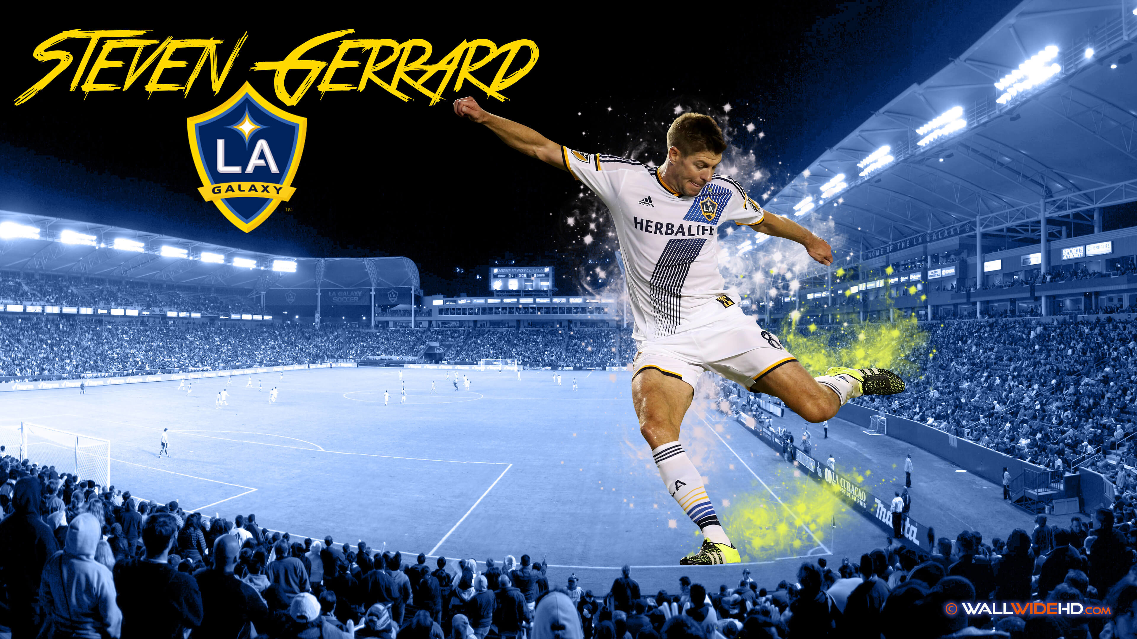 Res: 3840x2160, Description: Download Steven Gerrard 2015 MLS LA Galaxy HD & Widescreen  Wallpaper ...