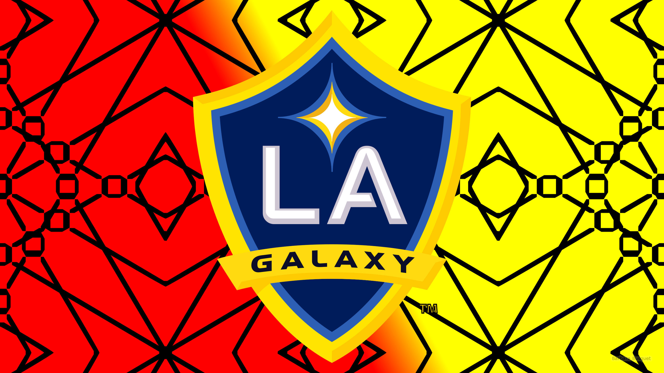 Res: 2560x1440, Red yellow Los Angeles Galaxy wallpaper
