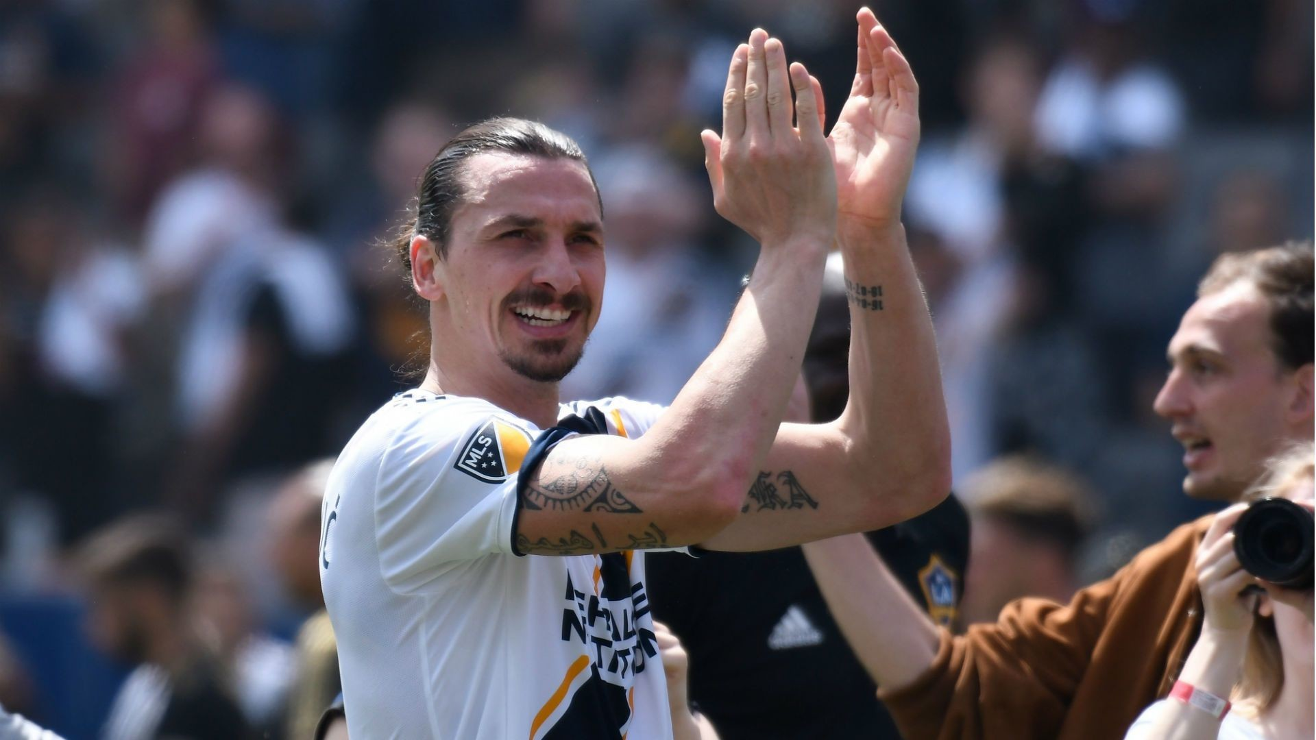 Res: 1920x1080, God' Zlatan Ibrahimovic produces debut miracle after prophetic LA .