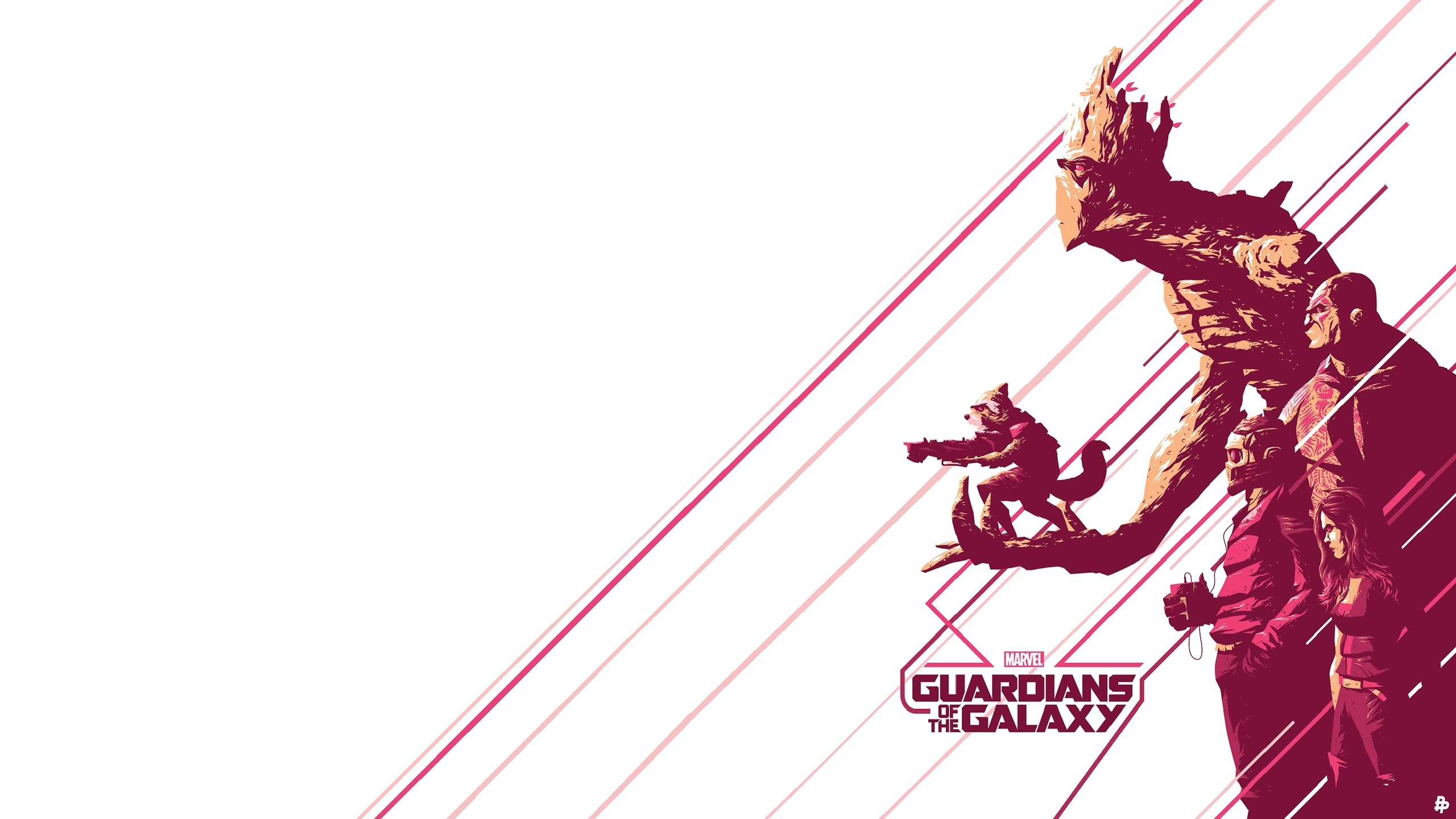 Res: 2560x1440, Movie - Guardians of the Galaxy Peter Quill Gamora Drax The Destroyer Groot  Rocket Raccoon Wallpaper