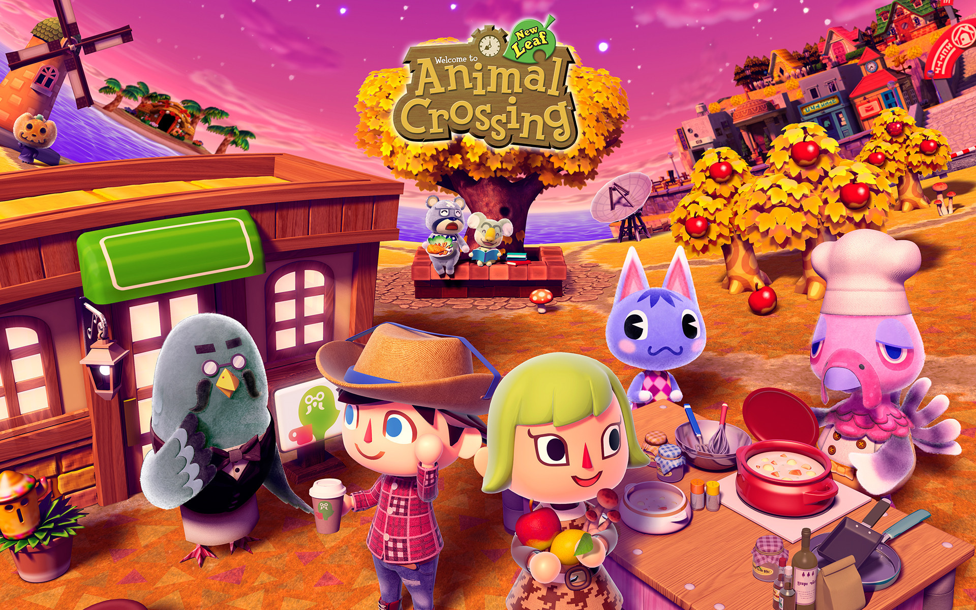 Res: 1920x1200, Animal Crossing: New Leaf Wallpapers