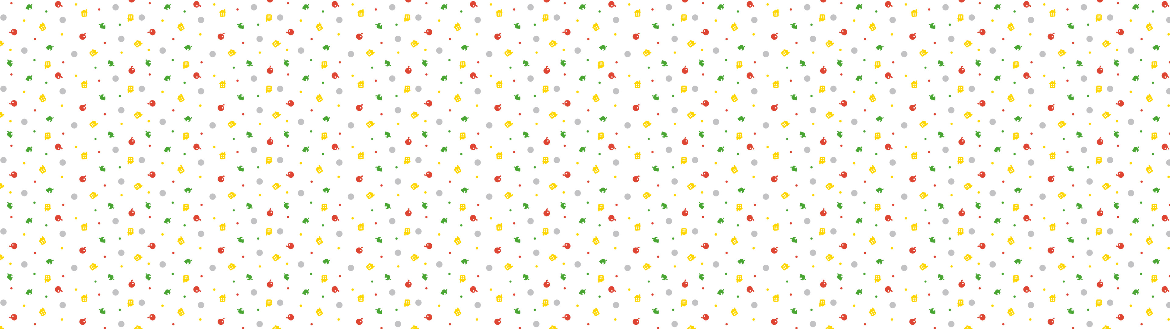 Res: 3840x1080, General  Animal Crossing Animal Crossing New Leaf New Leaf pattern  logo minimalism white colorful dual