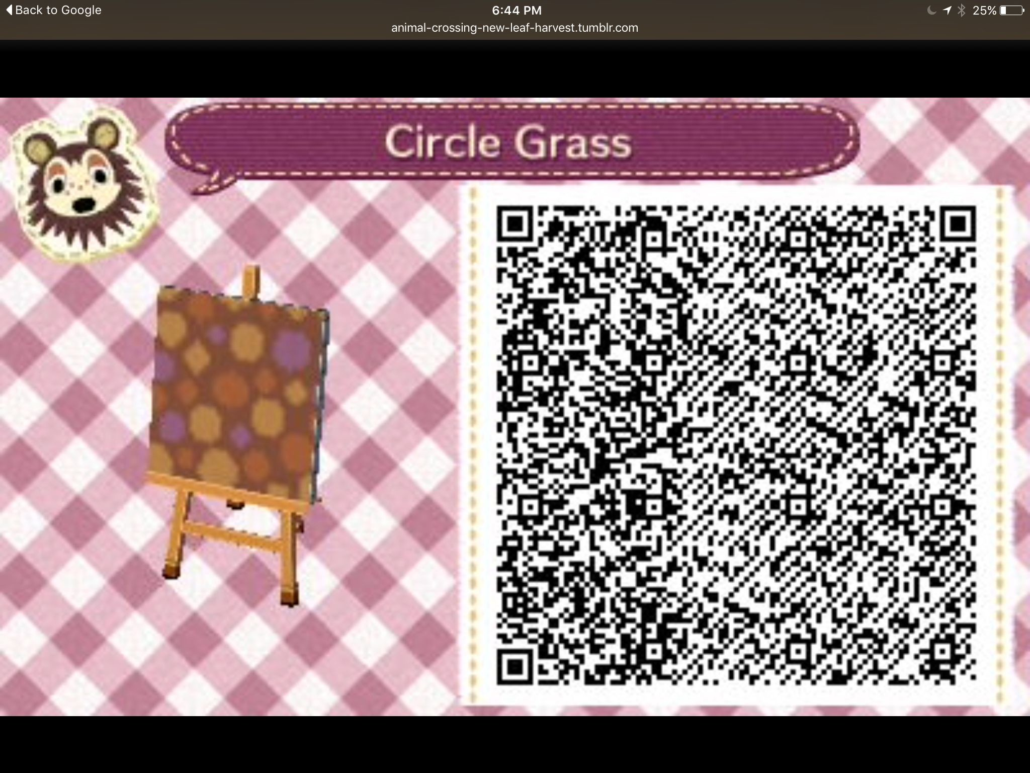 Res: 2048x1536, Qr code autumn circle grass animal crossing