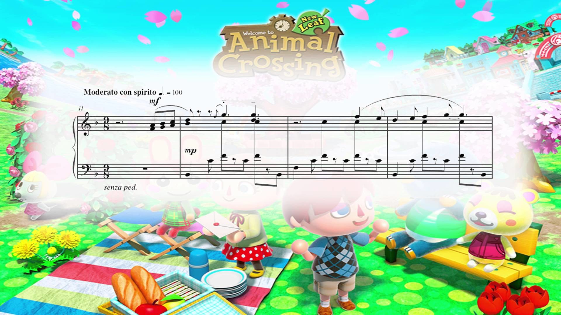 Res: 1920x1080, Animal Crossing: New Leaf - Main Theme (Piano Sheet Music)