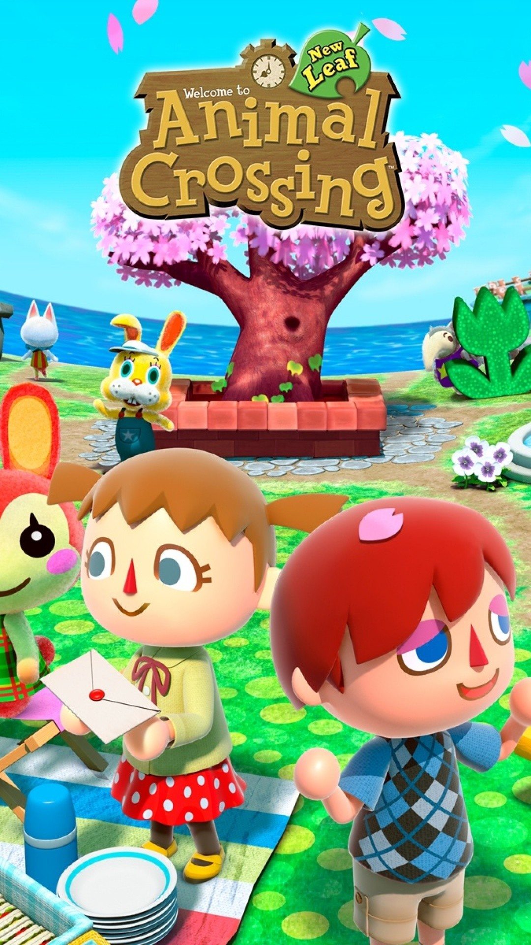 Res: 1080x1920, New Animal Crossing New Leaf iPhone Wallpaper Download - Animal Crossing  iPhone Wallpaper ID