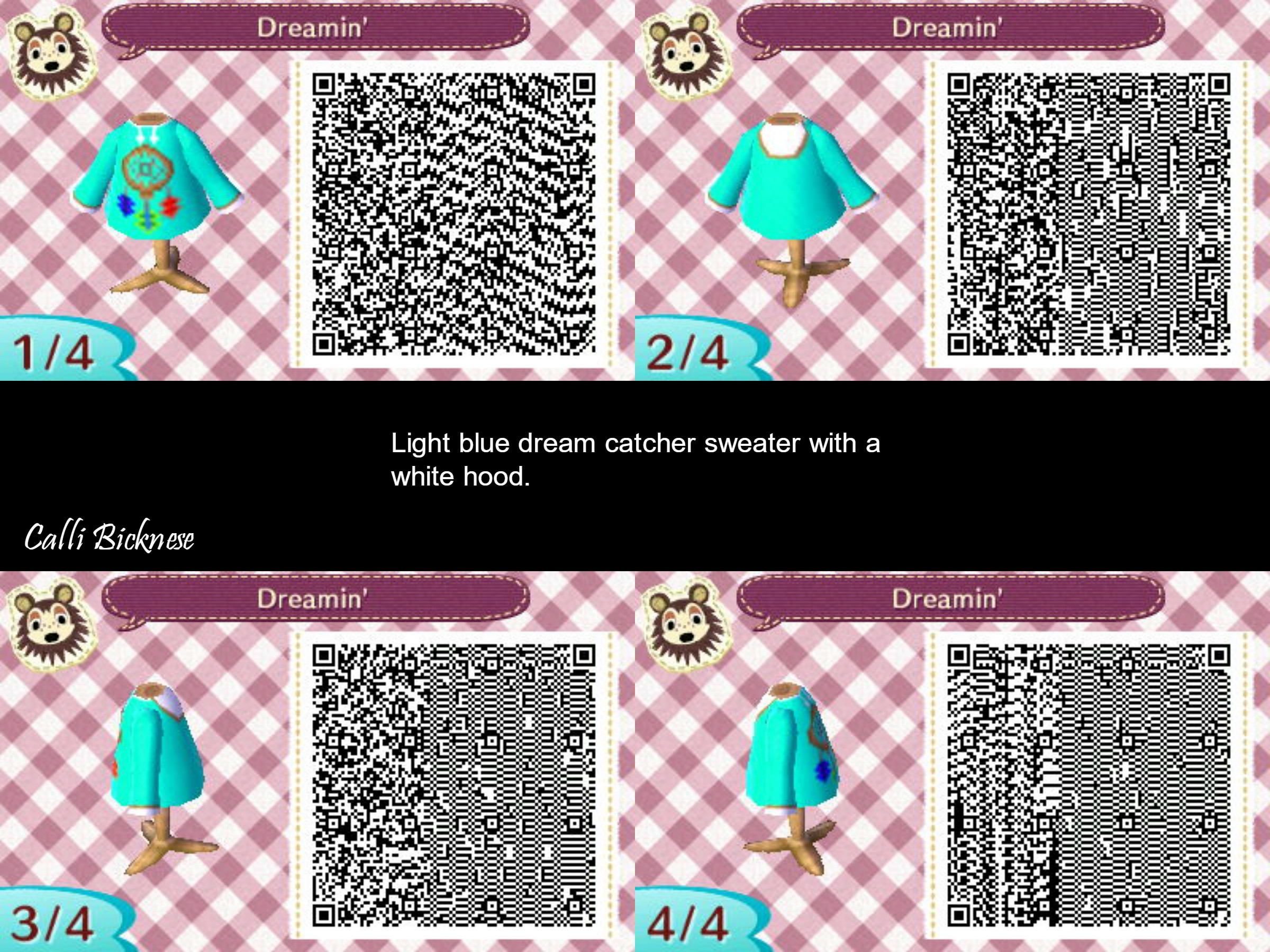 Res: 2400x1800, A light blue dream catcher sweater Animal Crossing New Leaf