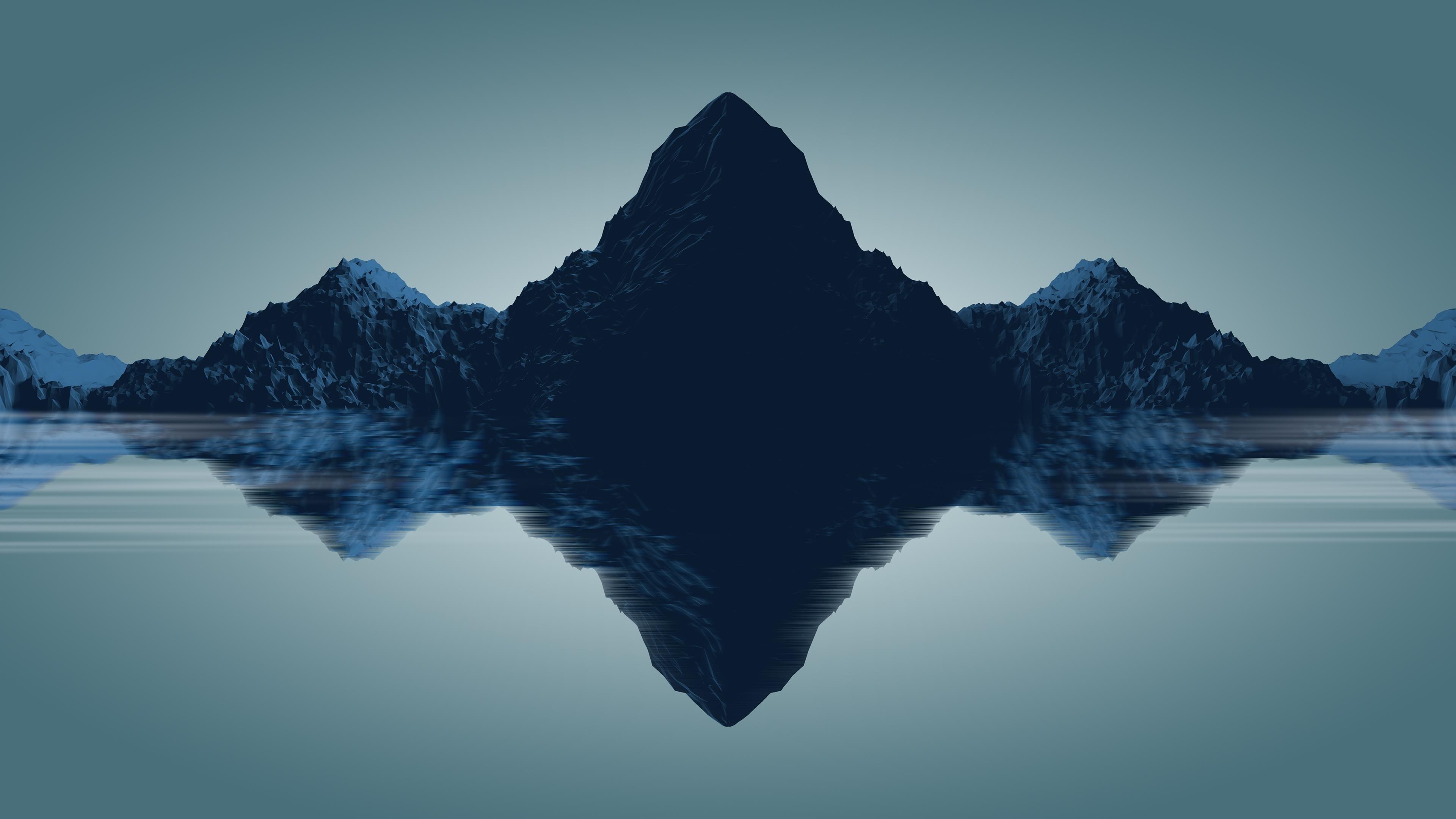 Res: 3840x2160, Title : minimal mountains, hd 4k wallpaper. Dimension : 3840 x 2160. File  Type : JPG/JPEG