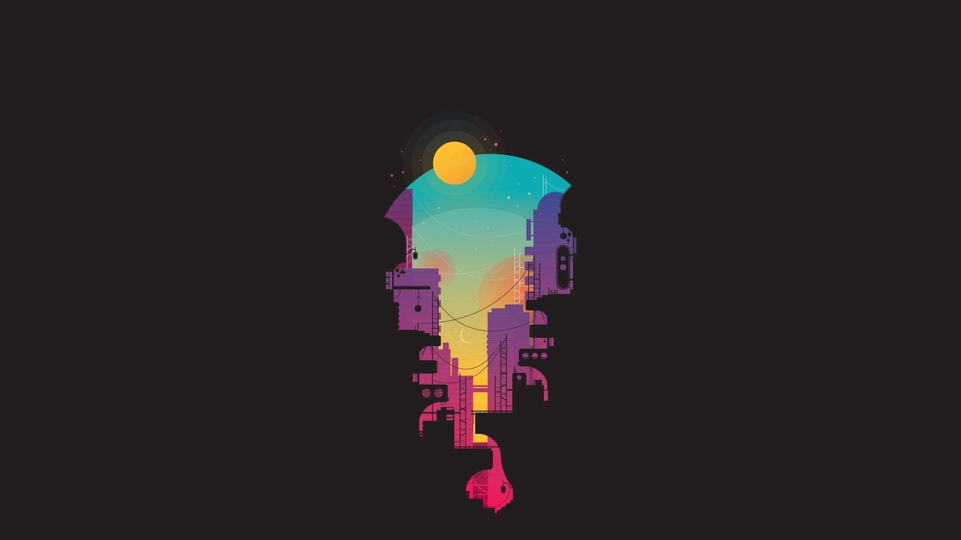 Res: 1920x1080, Minimalist Wallpaper Awesome City Minimalism Hd Artist 4k Wallpapers  Backgrounds