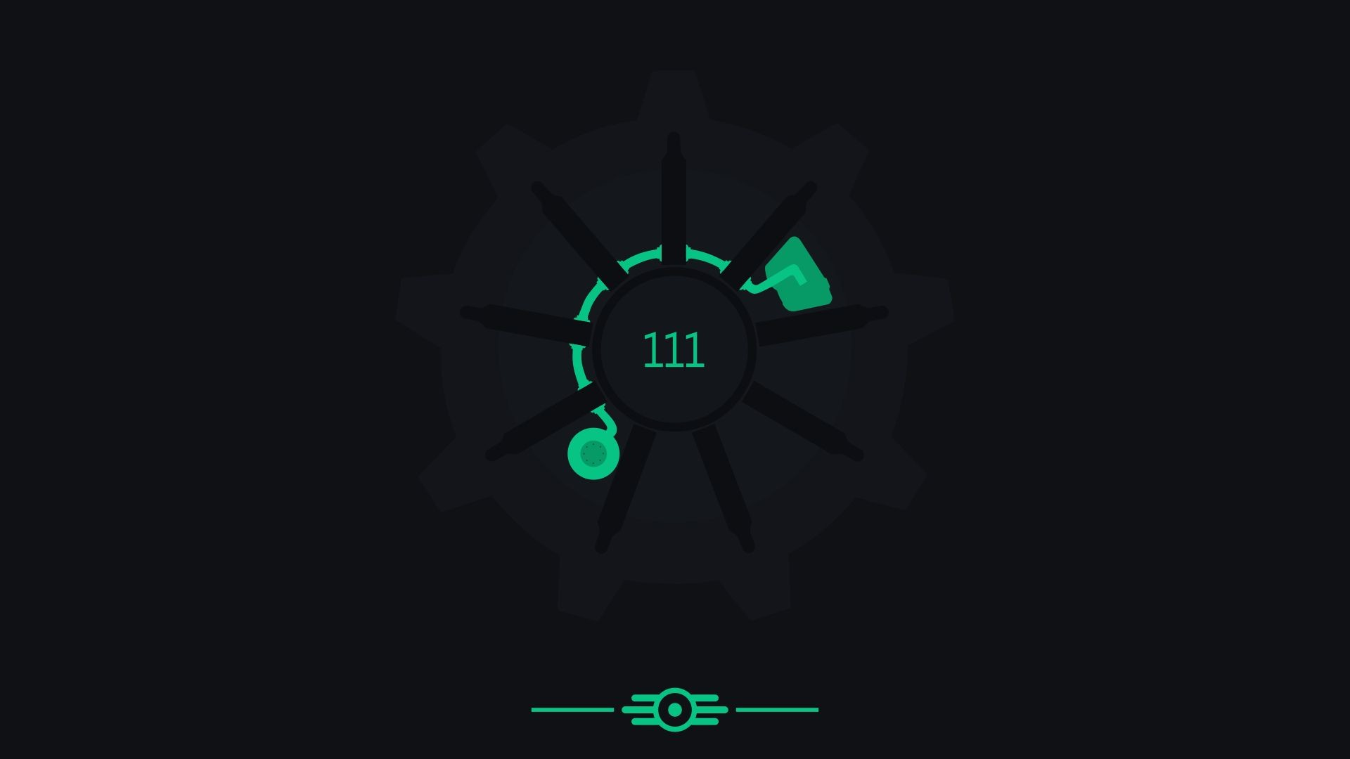 Res: 1920x1080, Fallout 4 Vault 111 minimalist wallpaper pack [4k] by CM2D on