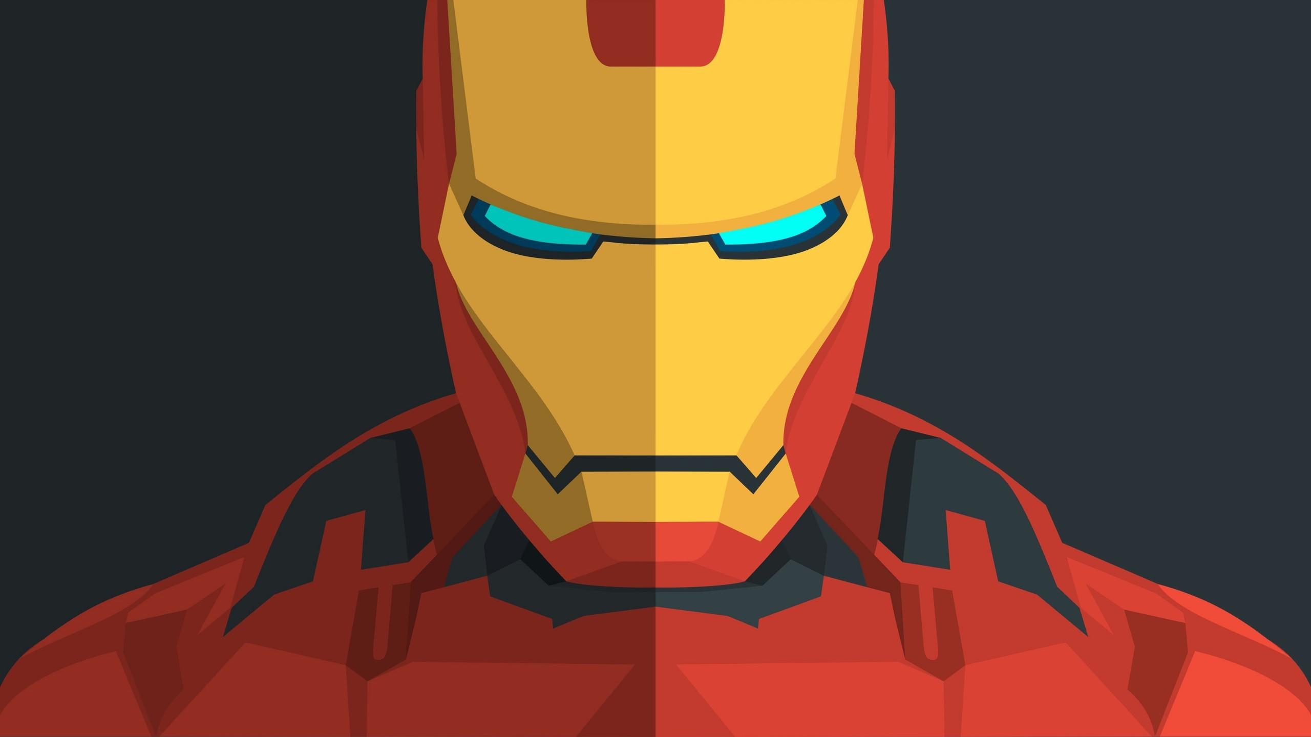 Res: 2560x1440, Iron Man Minimal 4K Wallpaper