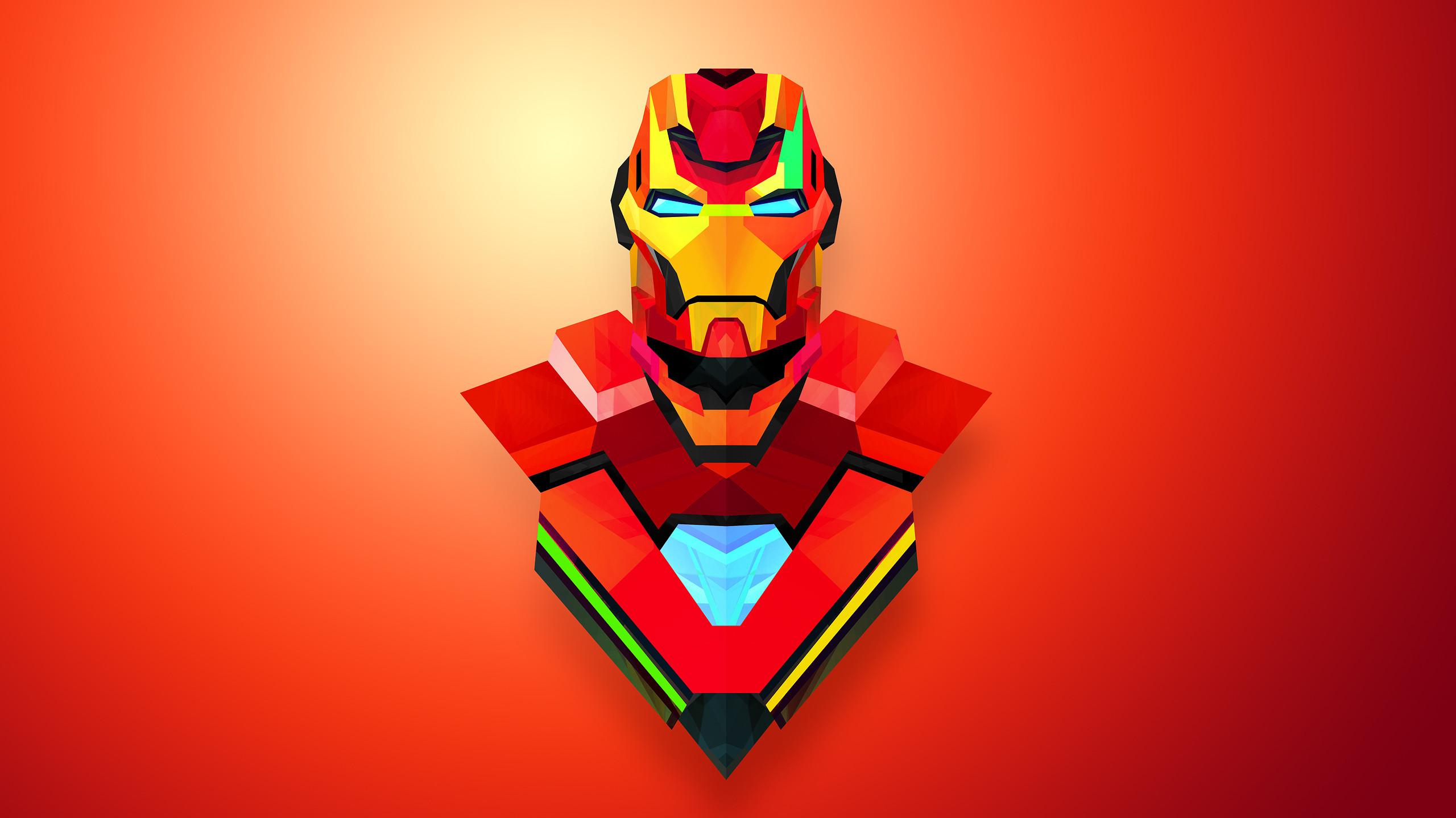 Res: 2560x1440, Iron Man Cartoon Images.