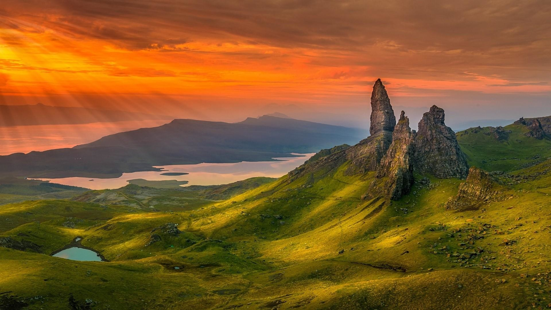 Res: 1920x1080, Old Man Of Storr On The Isle Of Skye In Scotland Wallpaper | Wallpaper  Studio 10 | Tens of thousands HD and UltraHD wallpapers for Android,  Windows and Xbox