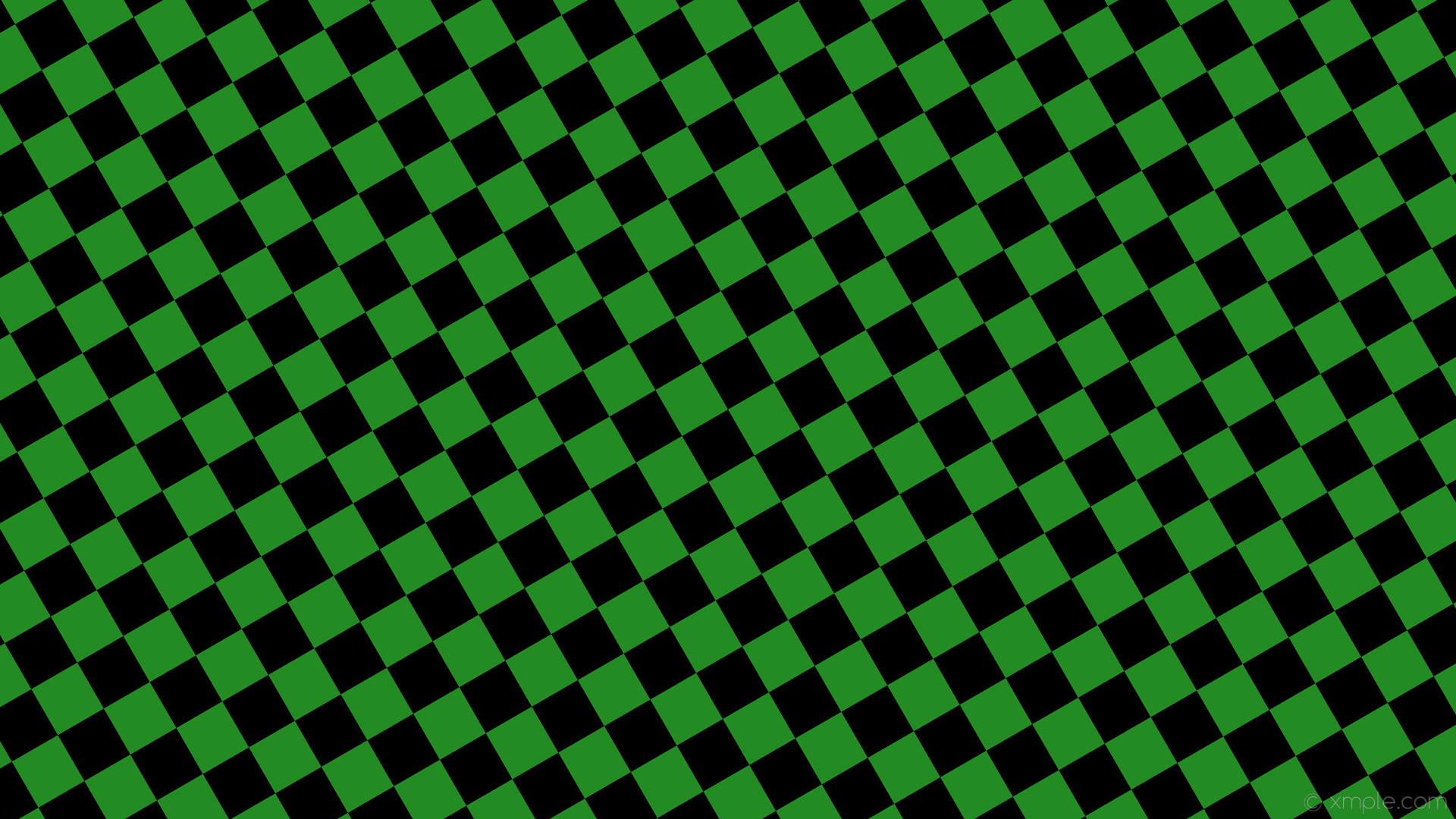 Res: 1920x1080, wallpaper checkered green squares black forest green #228b22 #000000  diagonal 30° 70px