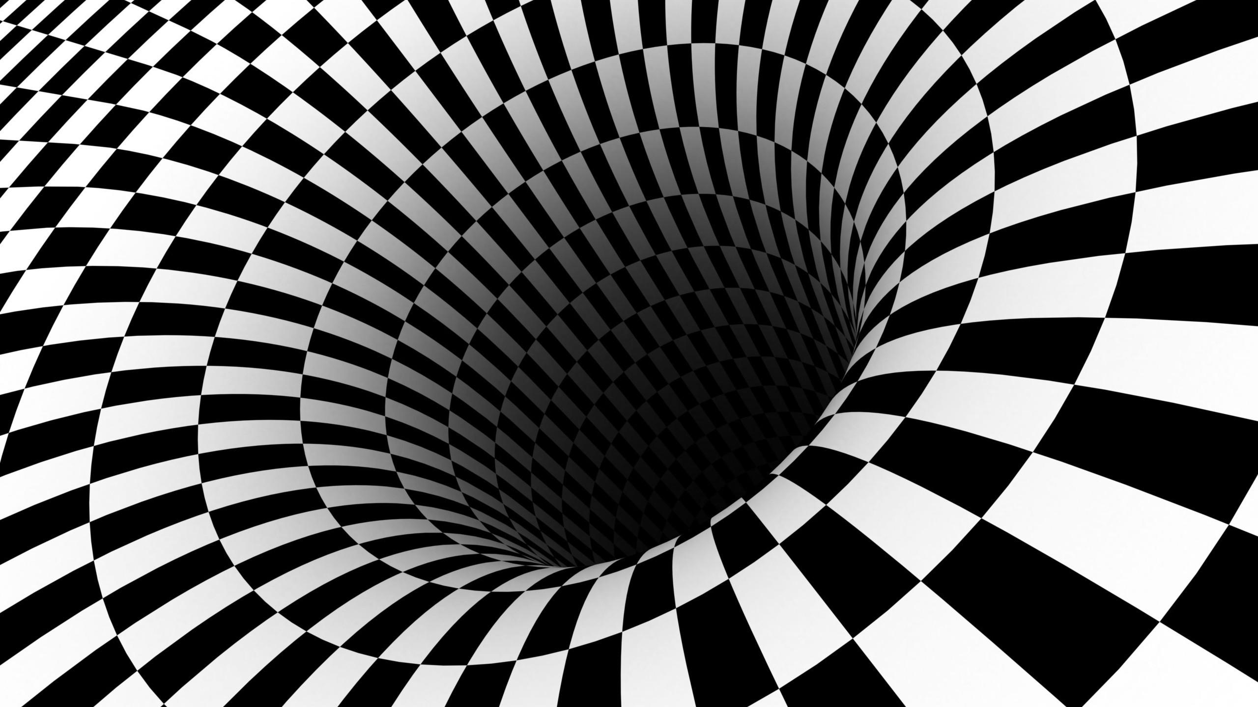 Res: 2560x1440, 3d Wallpapers, Hole, 3d Images, 3d Hd, Vortex, Optical, Illusions