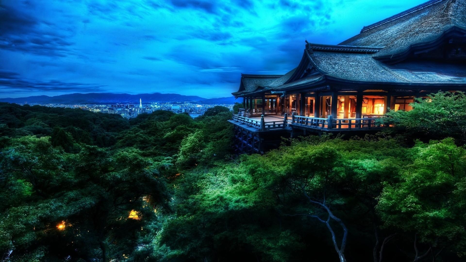 Res: 1920x1080, Japan Night Landscape Wallpaper HD Wallpaper