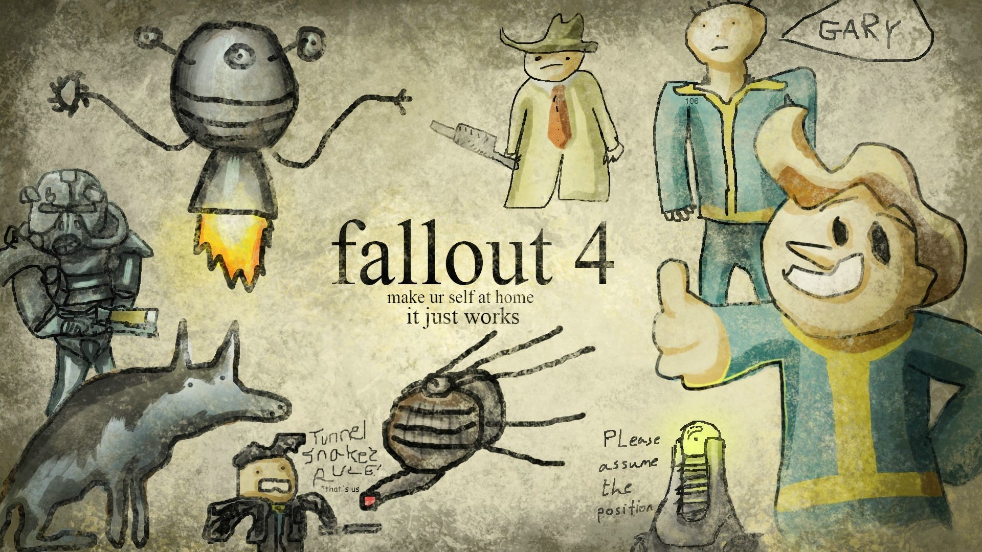 Res: 1920x1080,  Those are nice, but there is only one true Fallout wallpaper.