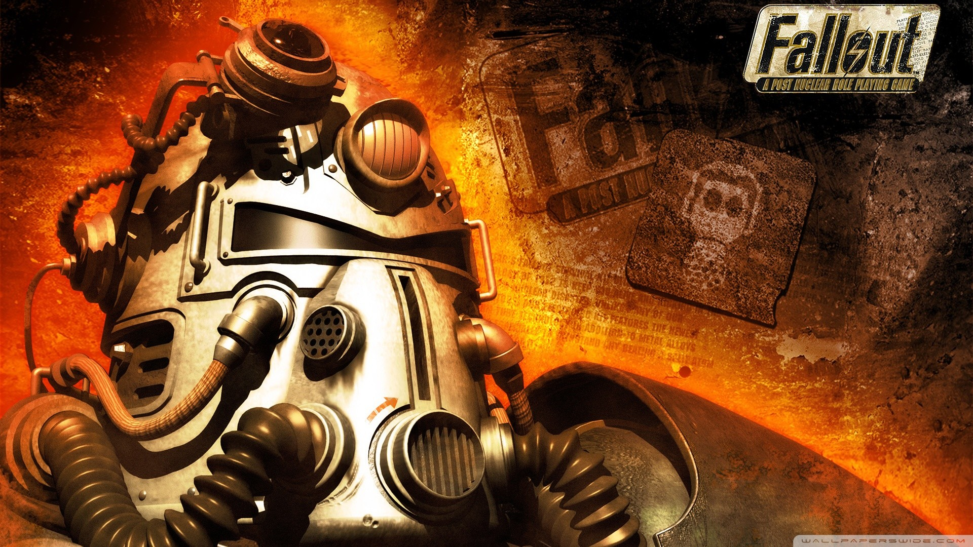 Res: 1920x1080, fallout_1-wallpaper--by-acer_9876.  Fallout_3_Brotherhood_of_Steel_Exploding_HD_Wallpaper_Vvallpaper.