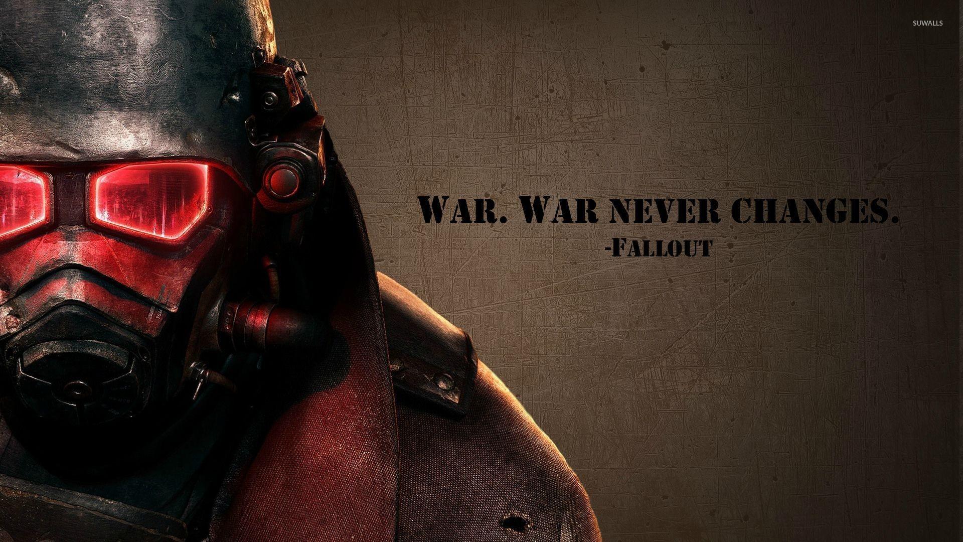 Res: 1920x1080, War never changes - Fallout wallpaper