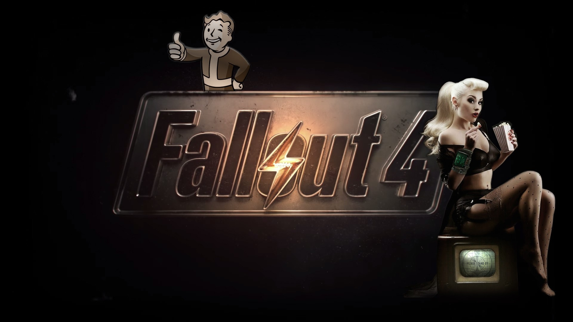 Res: 1920x1080, Fallout logo wallpaper pictures.