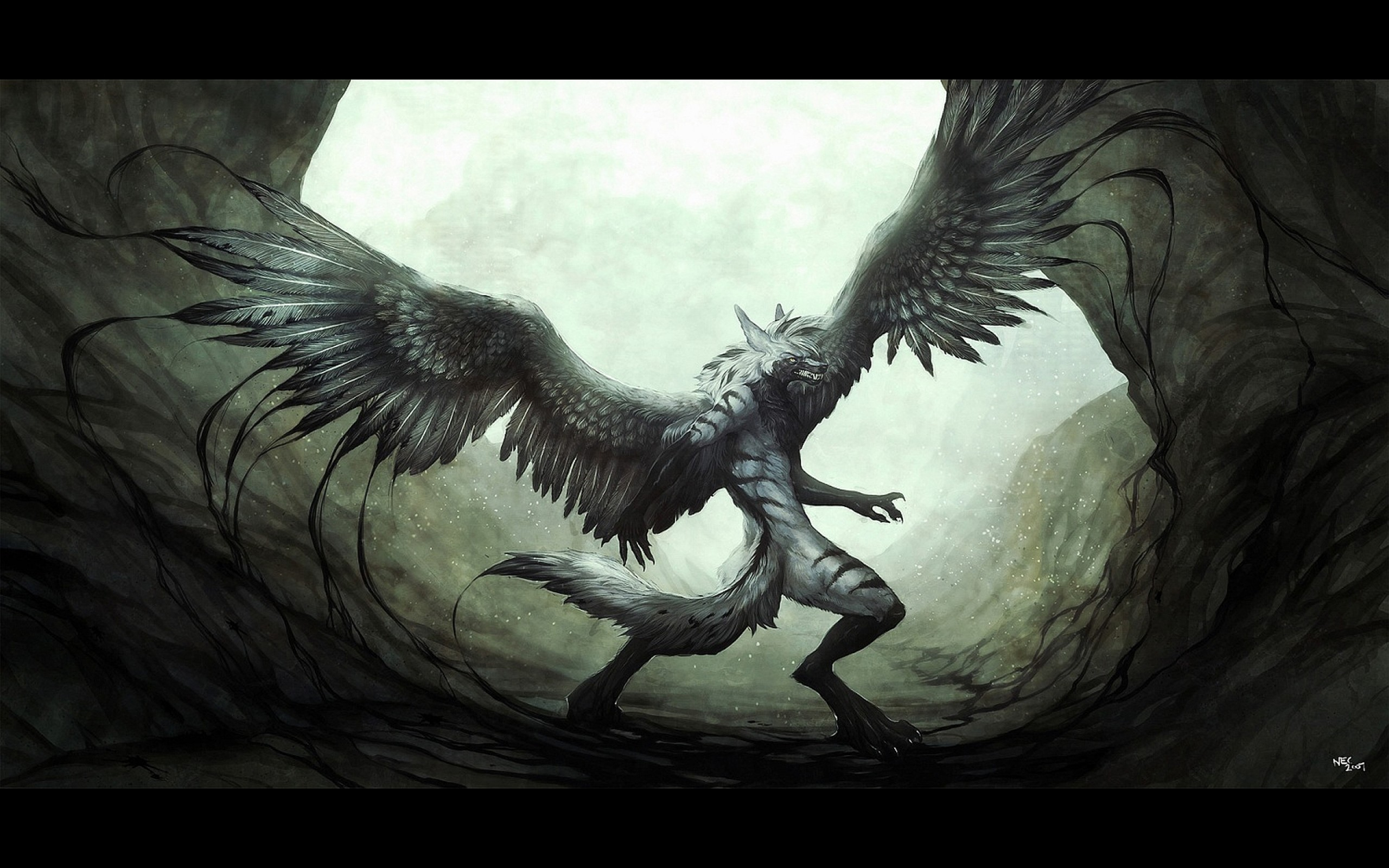Res: 2560x1600, Fantasy Winged Wolf Furry Picture Wallpaper #2 #15099 Wallpaper .